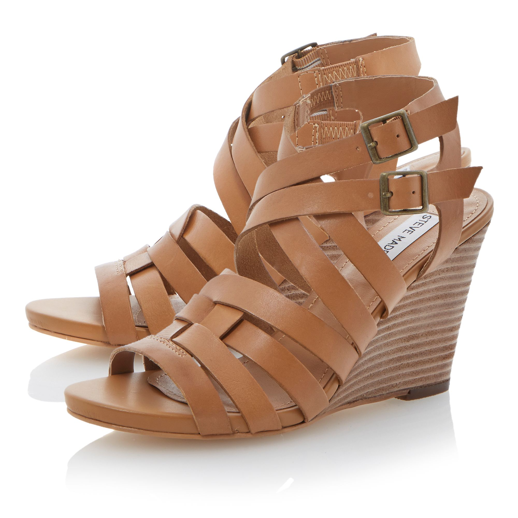 Venis strappy double buckle sandals