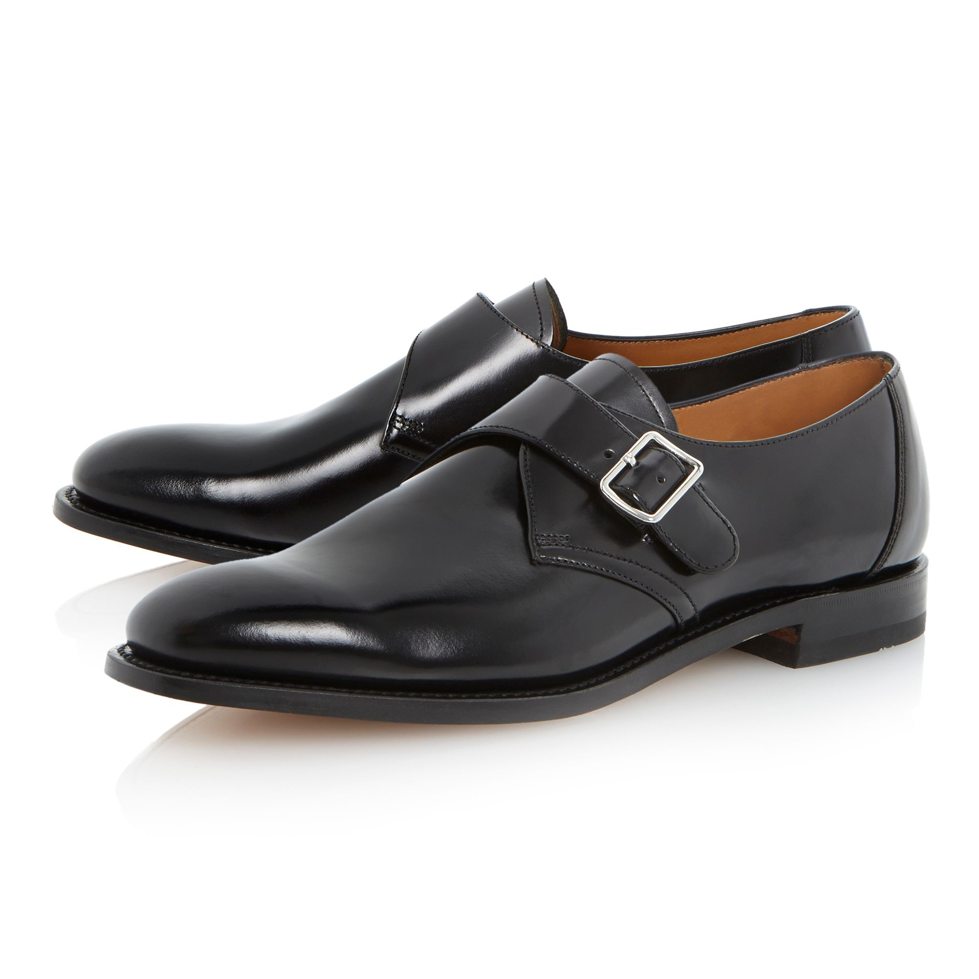 204 buckle trim leather monk shoe