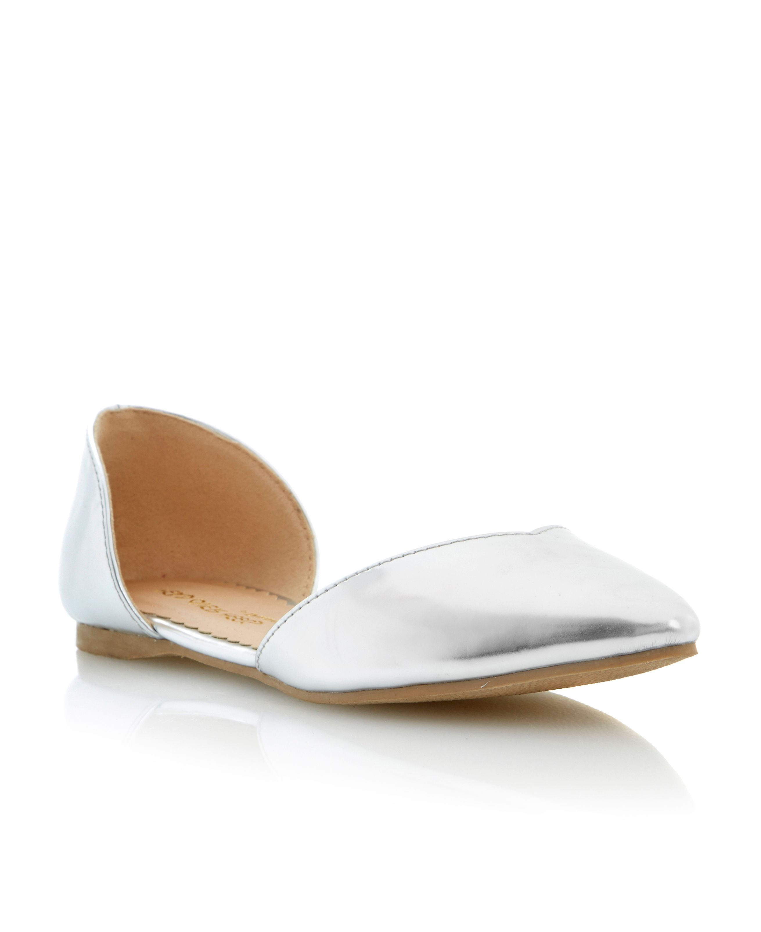 Melanee pointed toe two part flat shoes