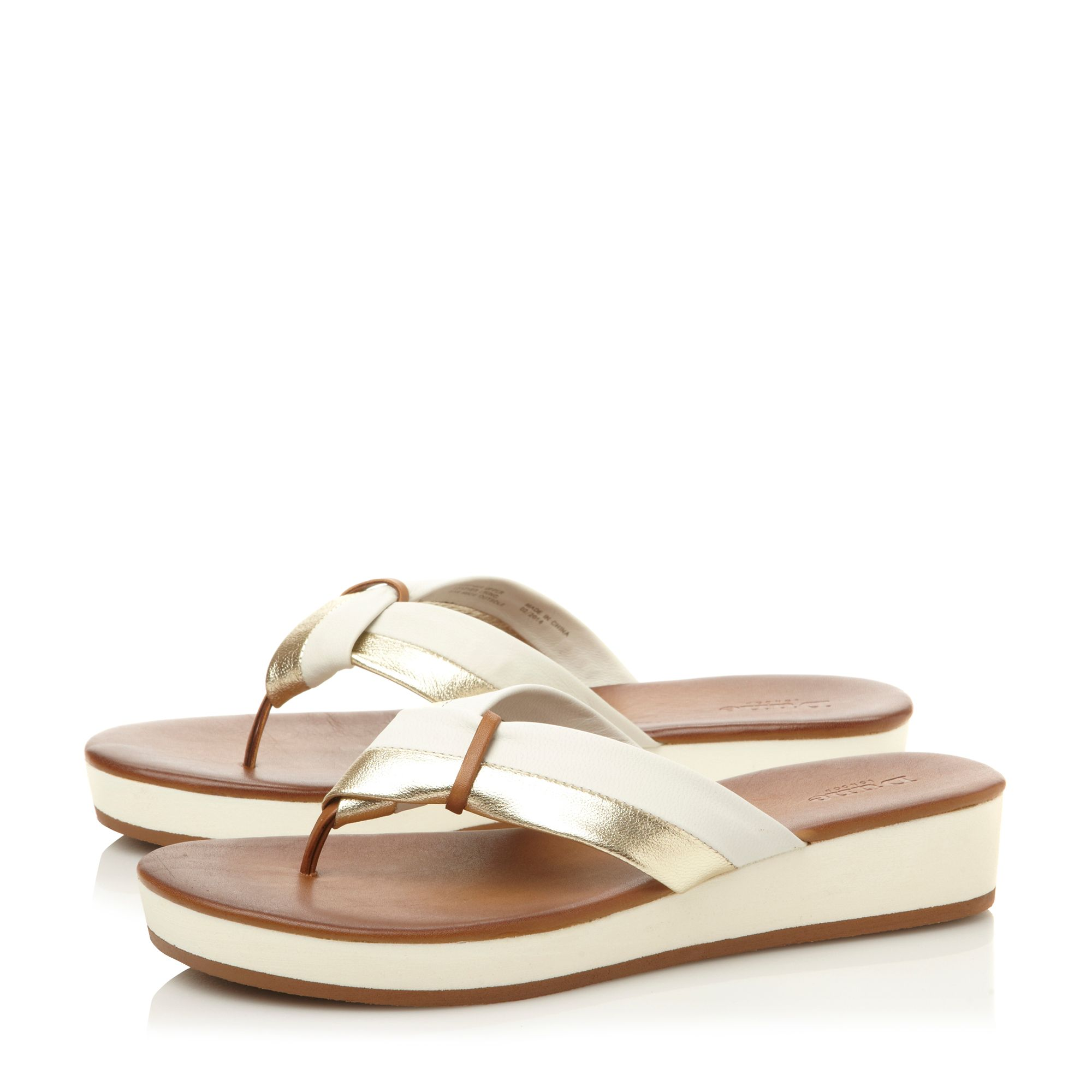 Jannys leather flat sandals