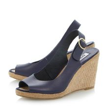 Gleeful leather peeptoe wedge sandals