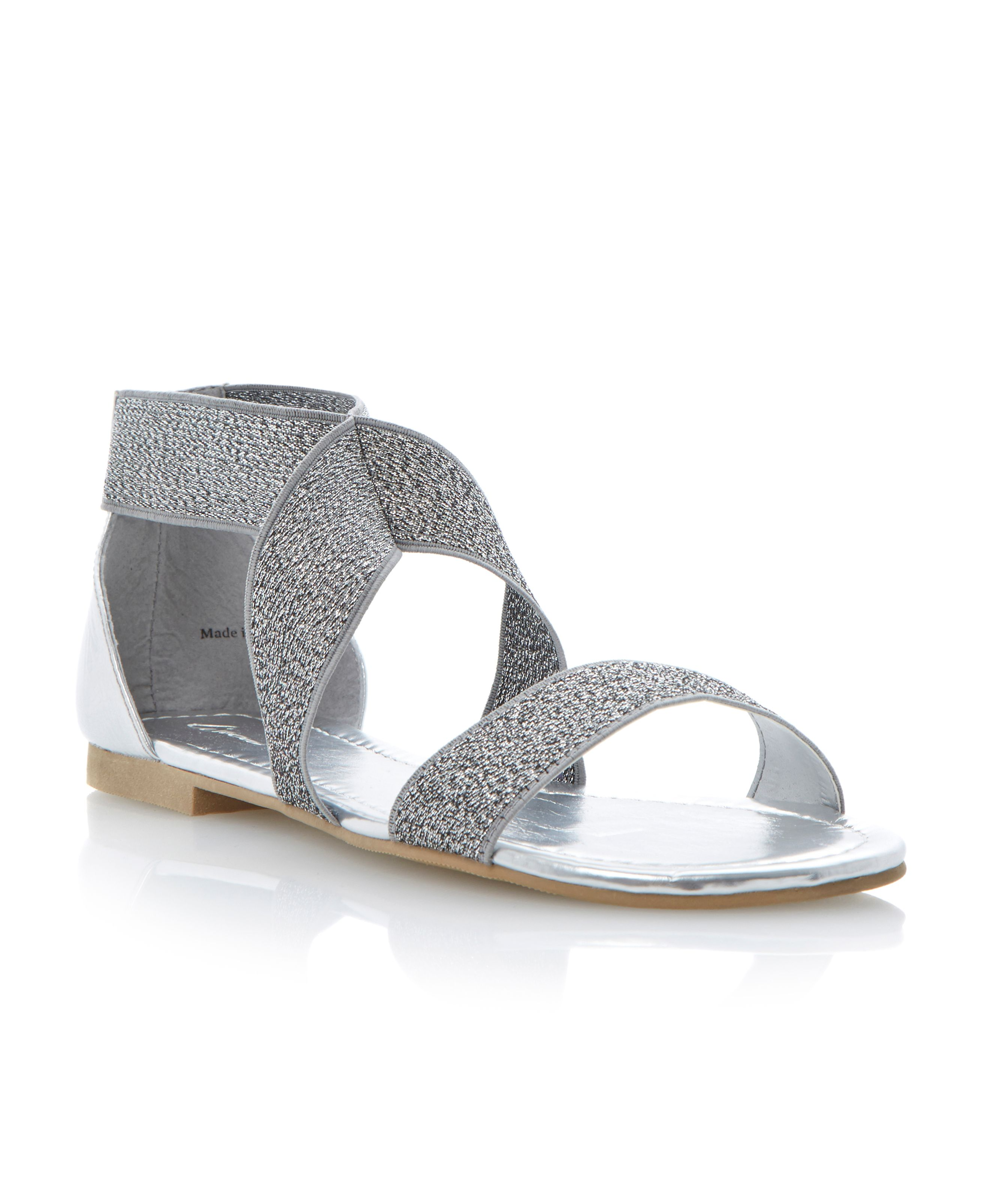 Jalapeno elasticated strap flat sandals