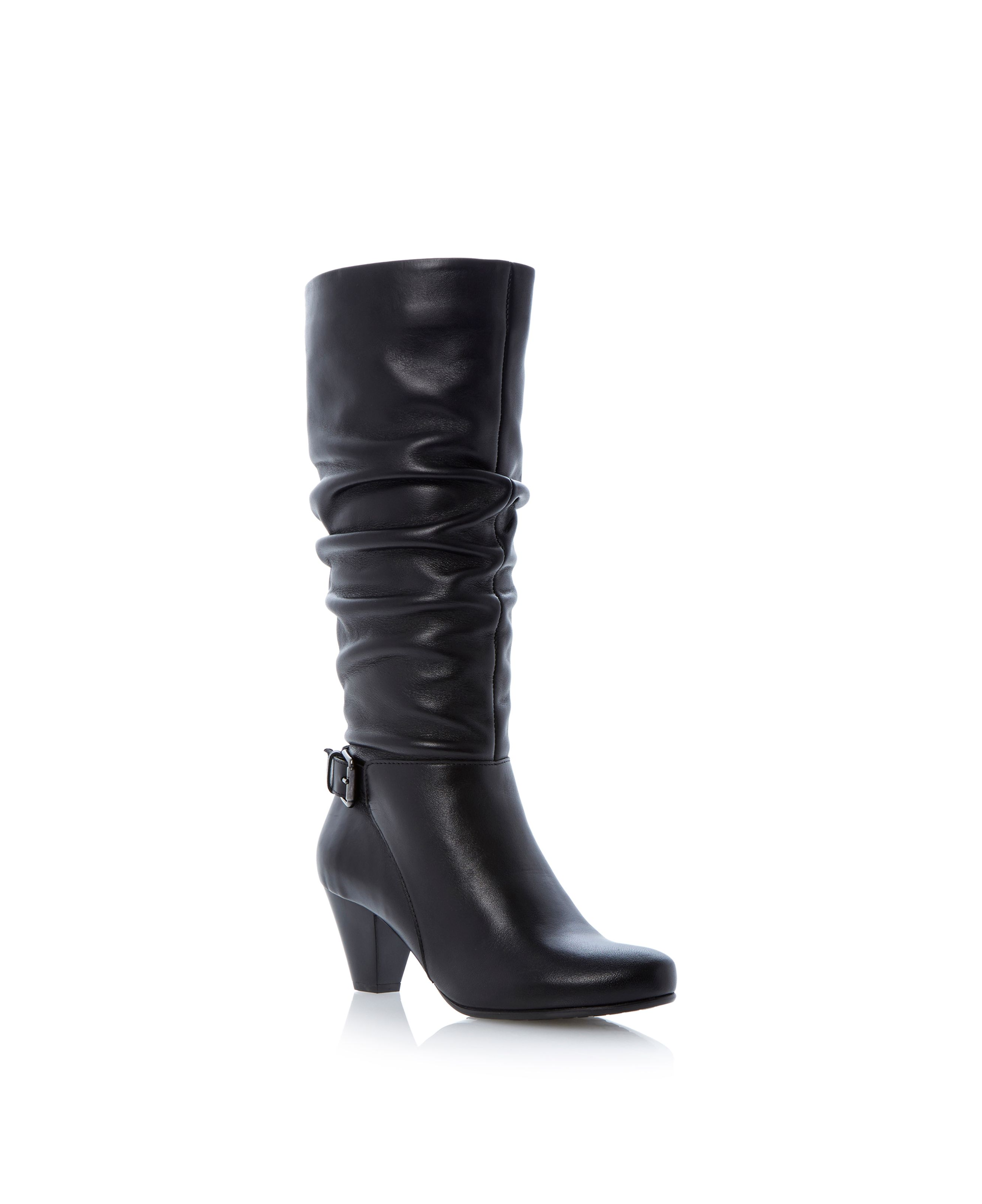 Tarwin rouched leg buckle detail boots