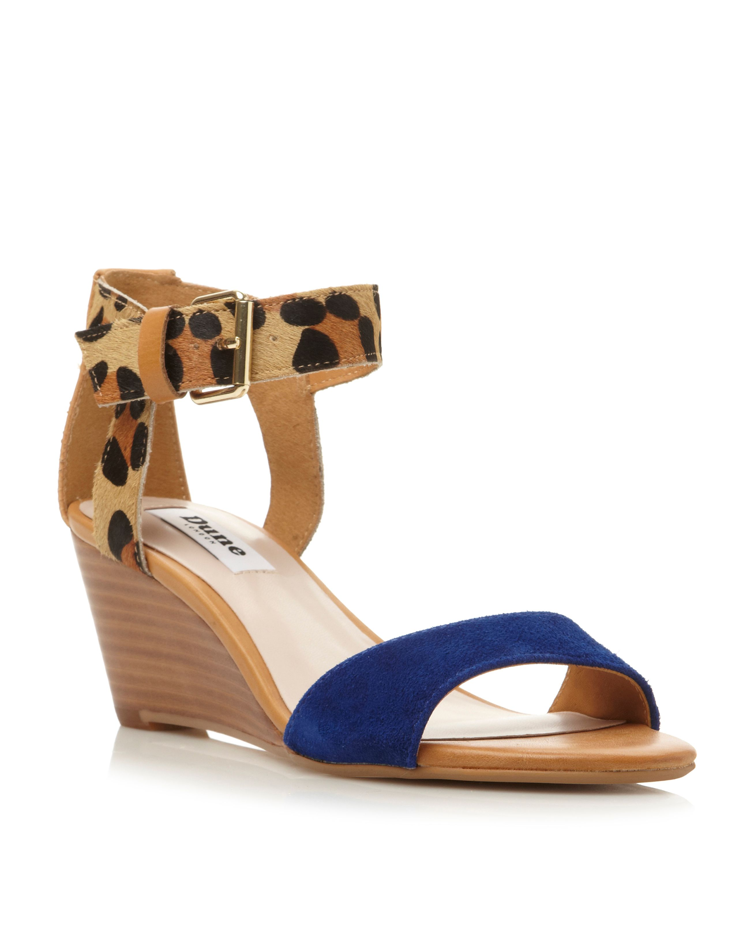 Ginni pony wedge buckle sandals