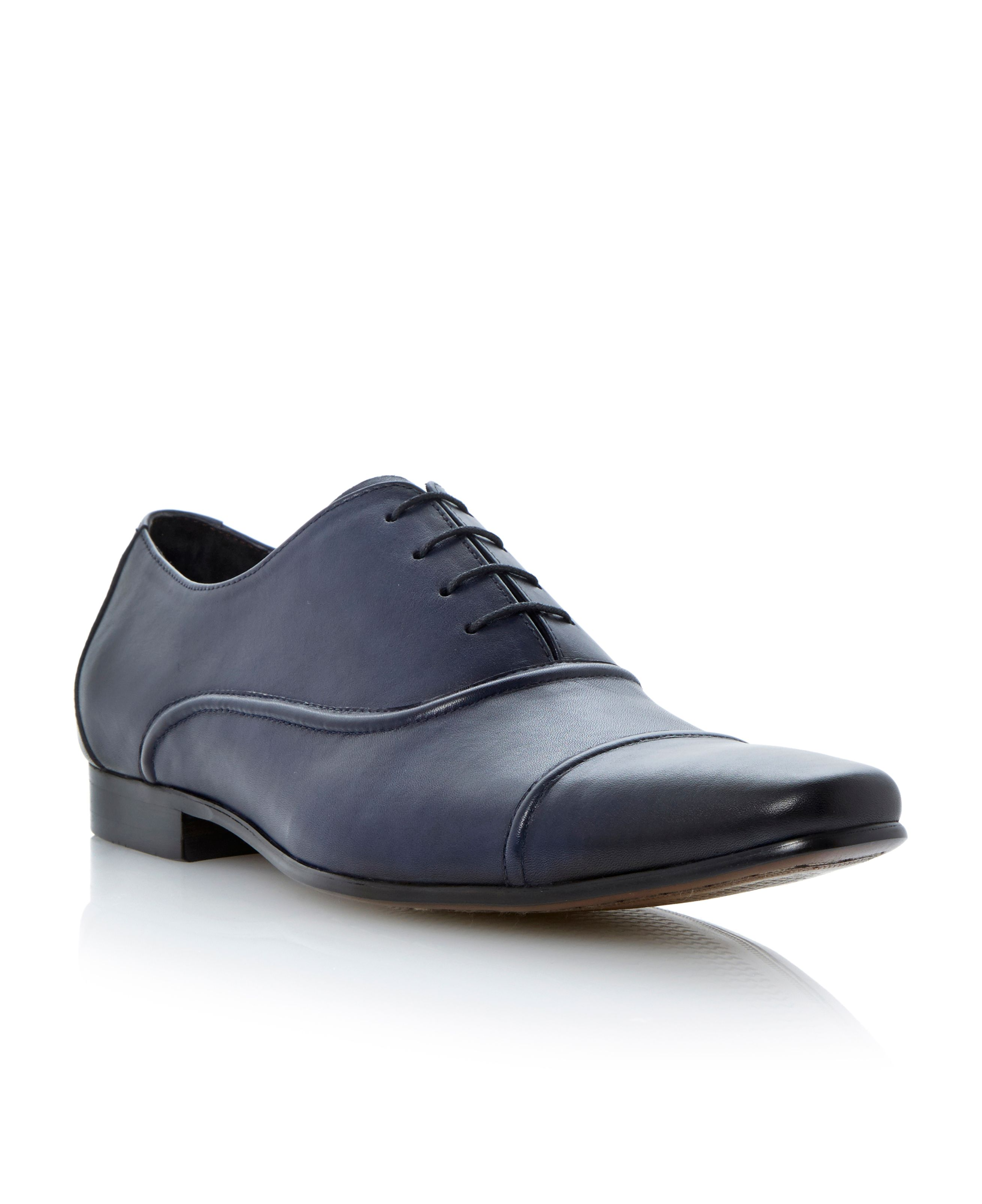 Academy lace up toecap seam oxford shoes