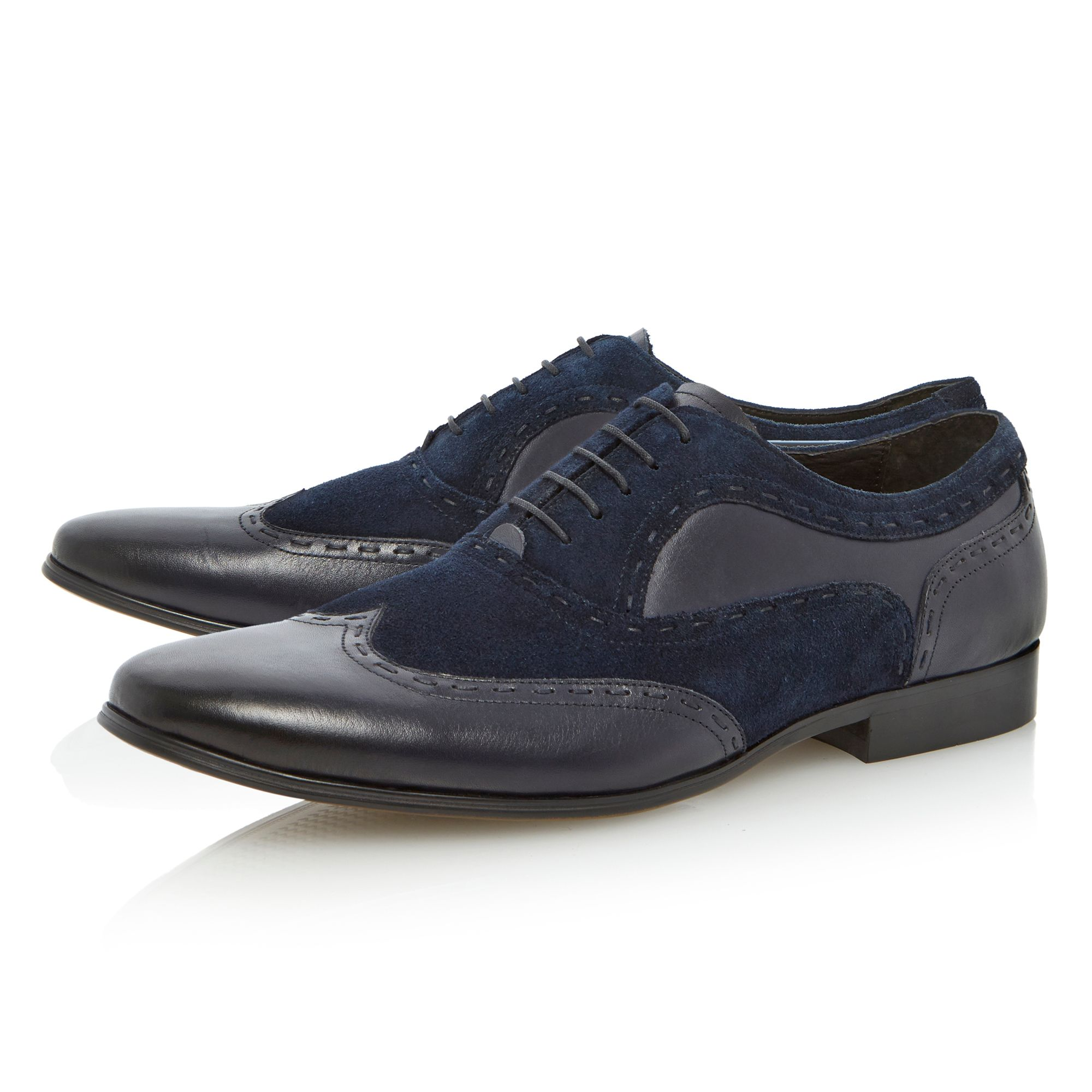Ambrose mixed suede and leather brogues