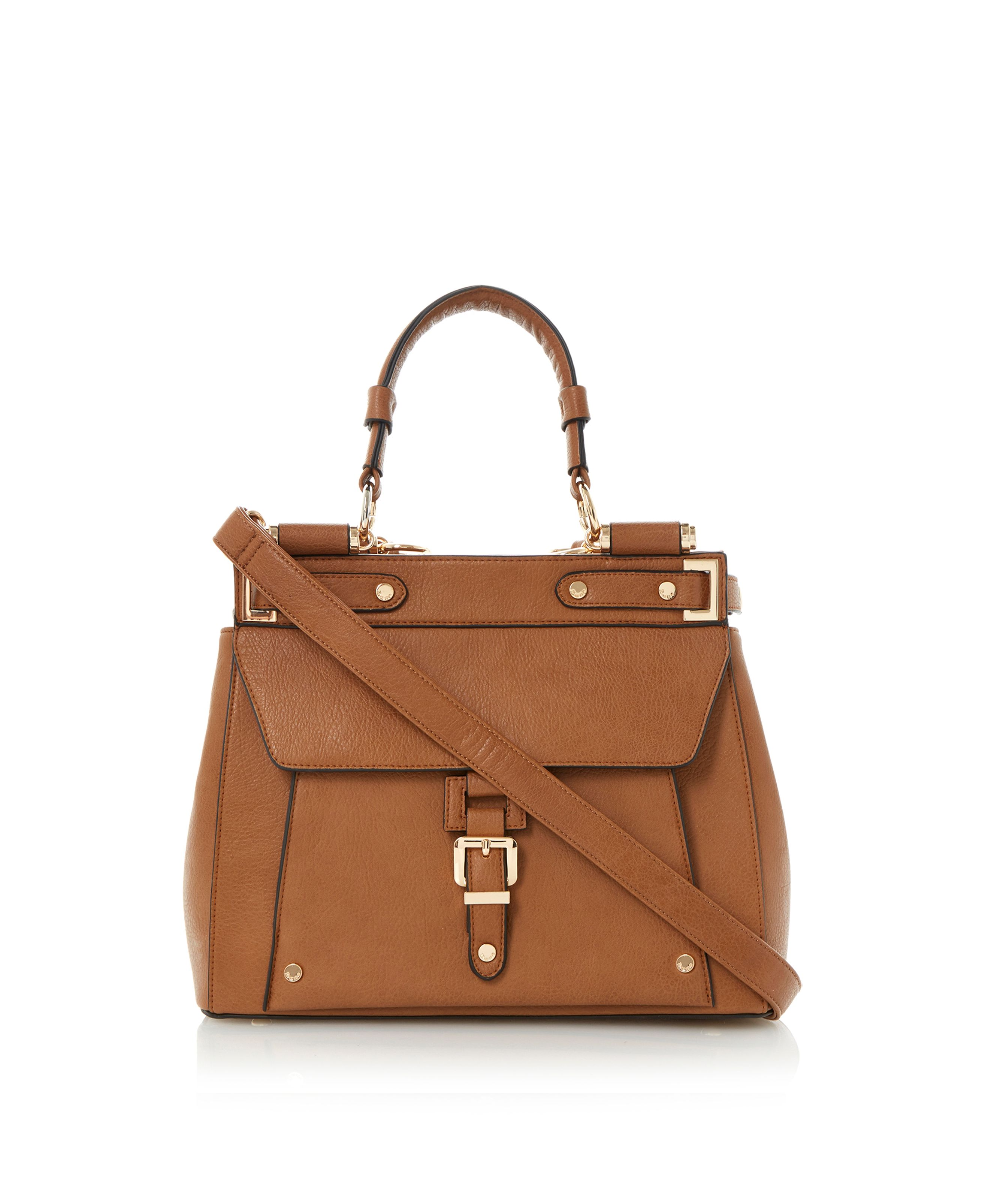 Doven buckle detail structured bag