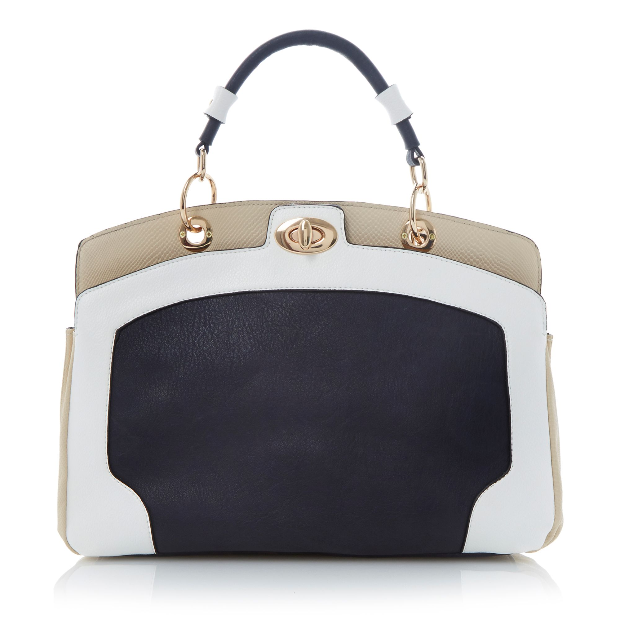 Deeley colour block detail handbag