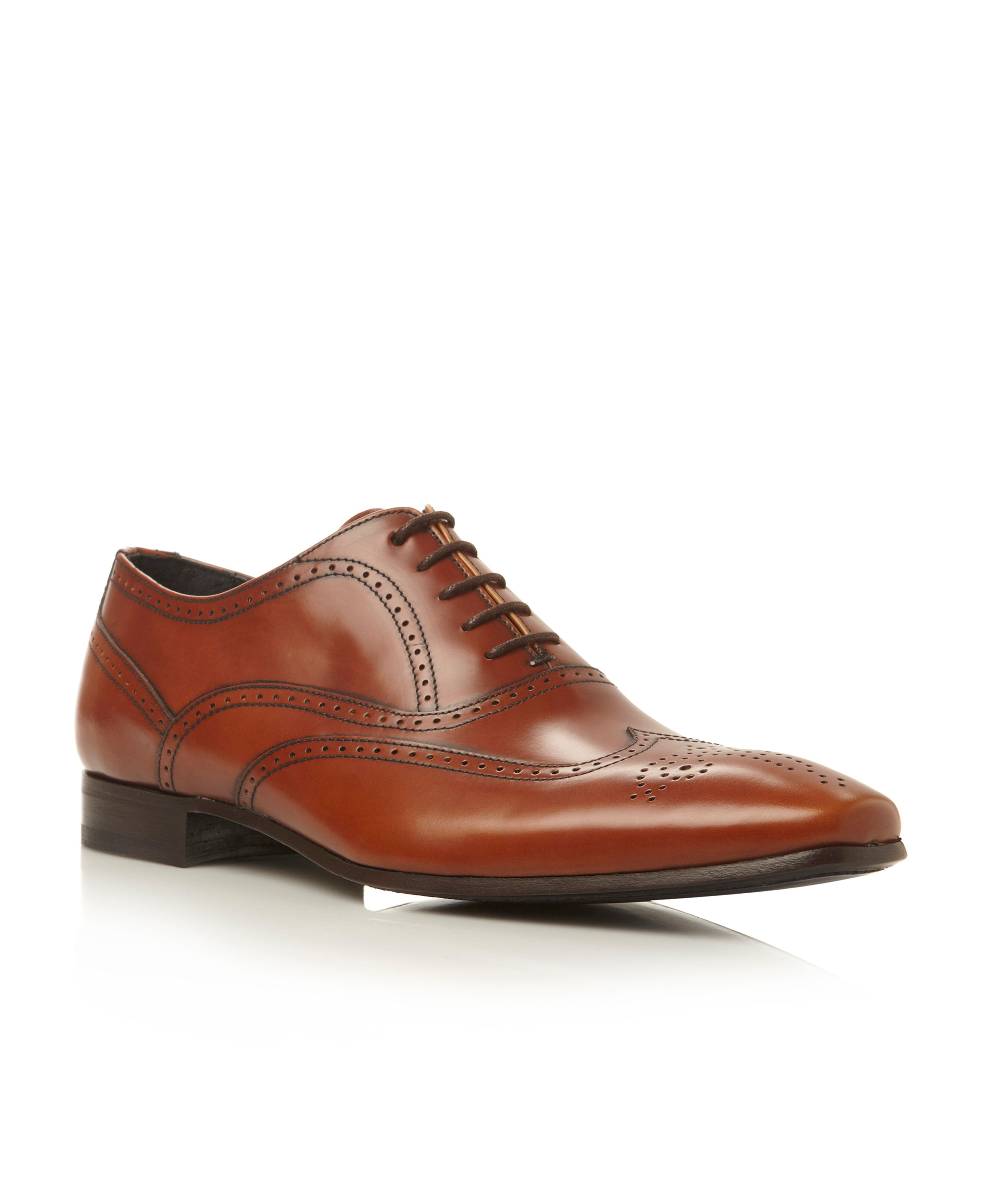 Austrey chisel toe wingtip brogue