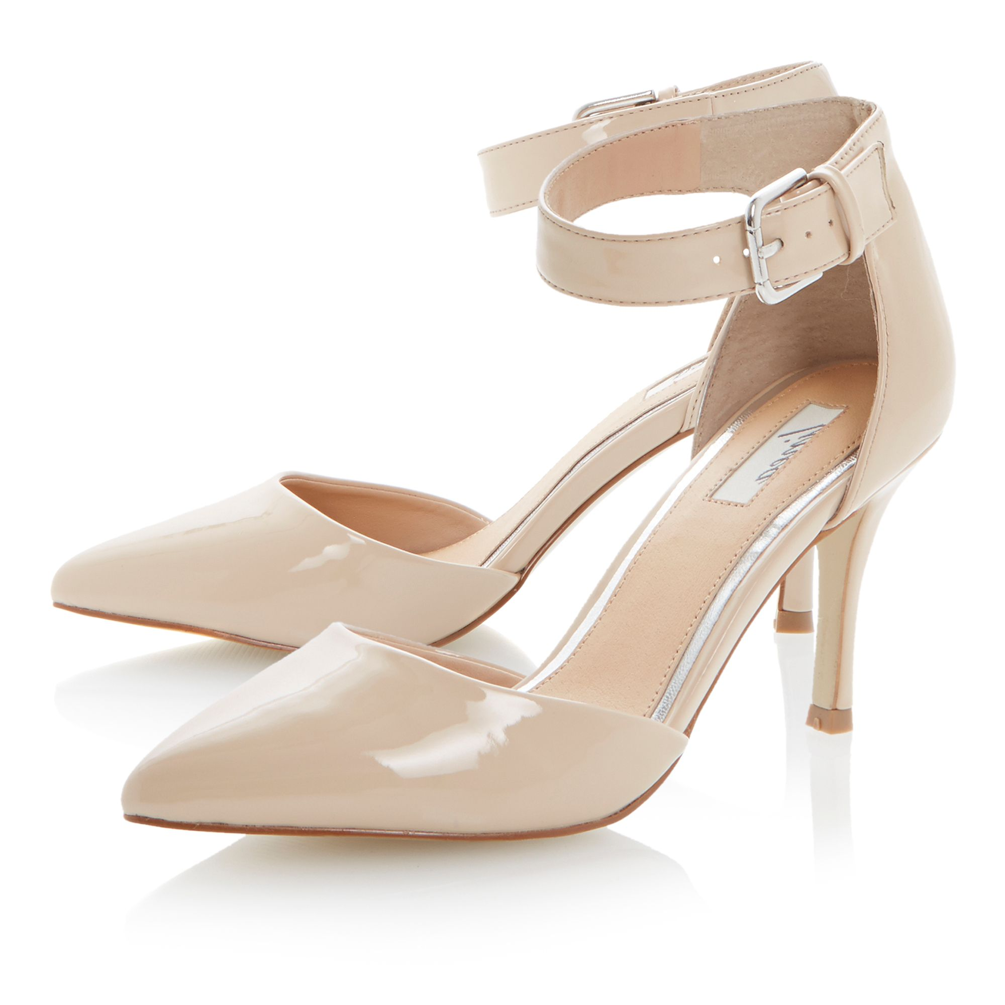 Ciabatta pointed toe stiletto court shoes