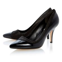 Alivia mixed material asymmetric court shoes