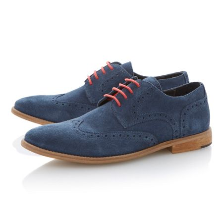 Bertie Aston suede lace up brogues