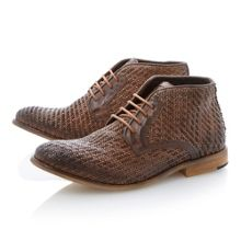 Chalk farm lace up woven boot