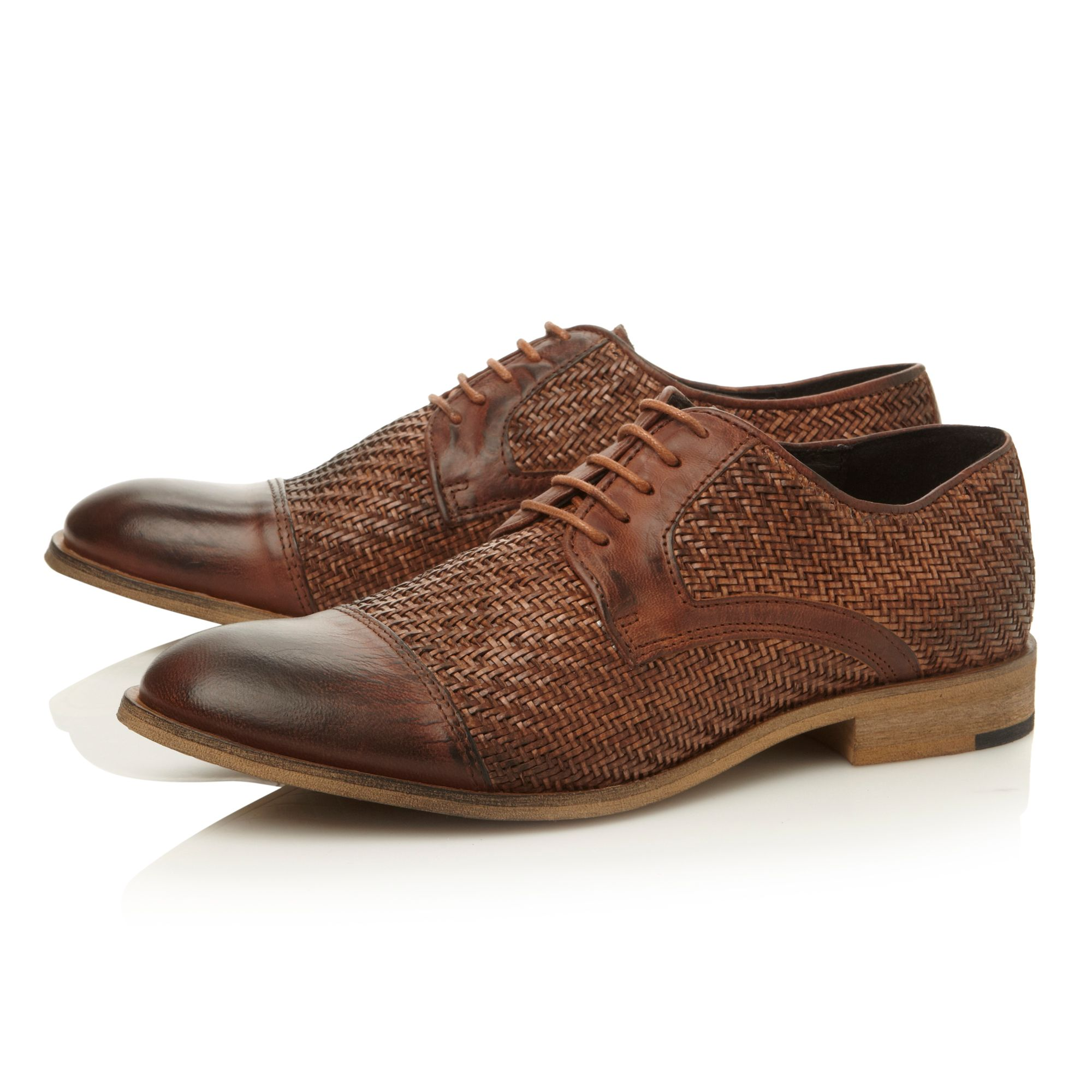 Baskett lace up woven gibson shoes