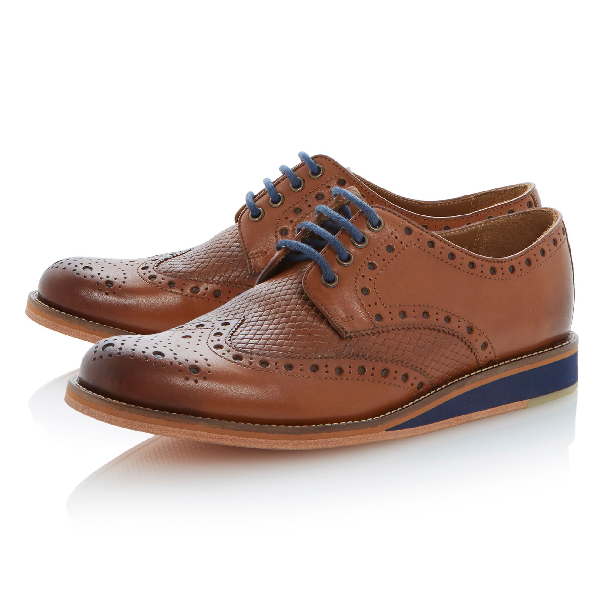 Brock lace up wedge woven brogues