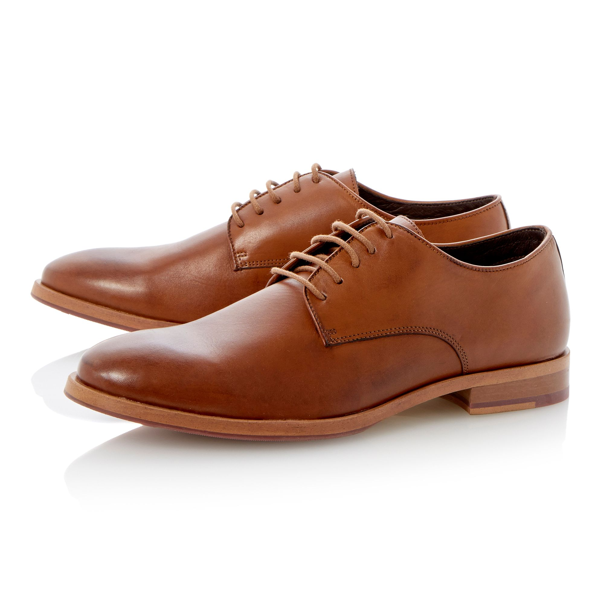 Randolph lace up plain gibson shoes