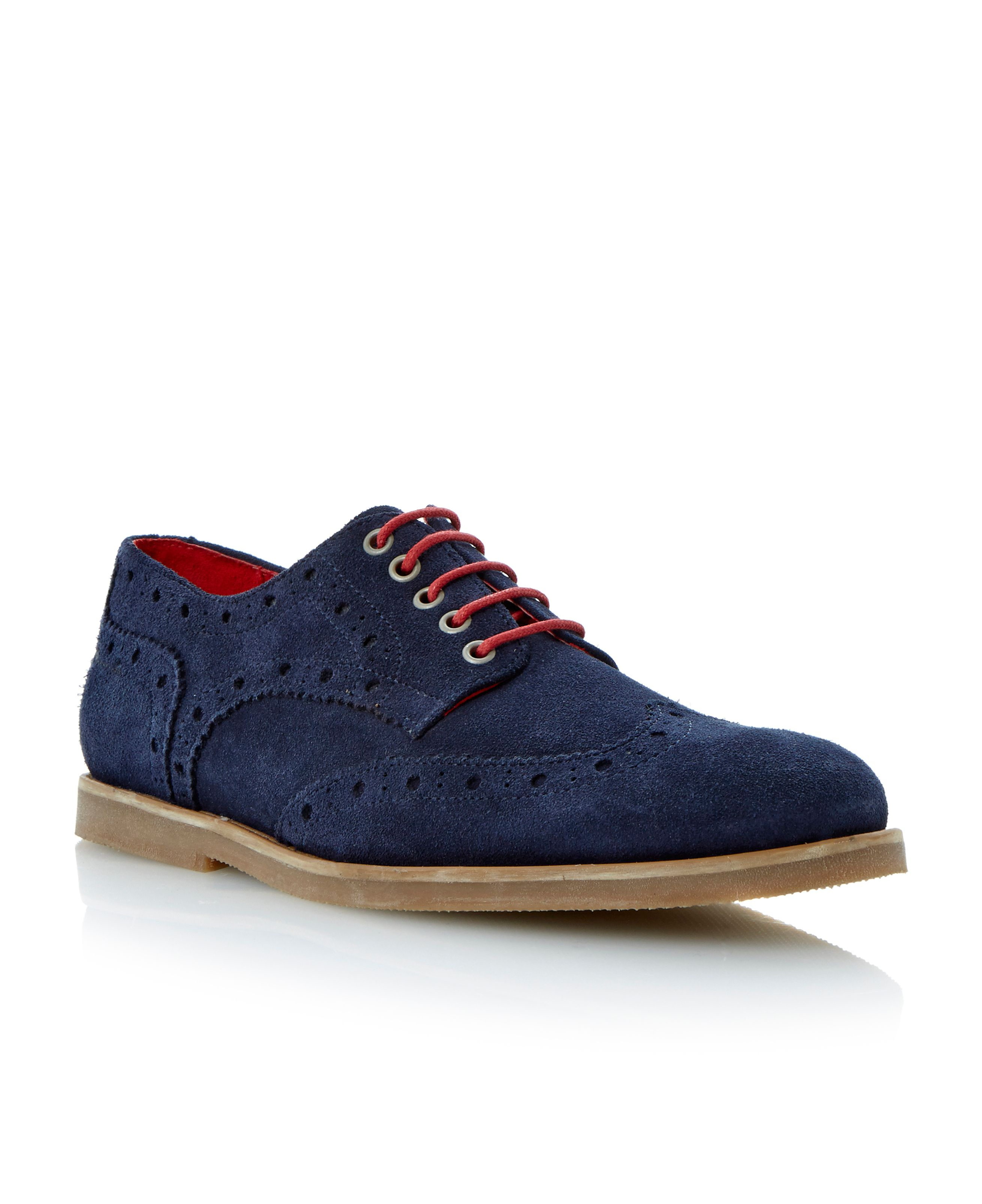 Brentwood lace up brogue desert shoes