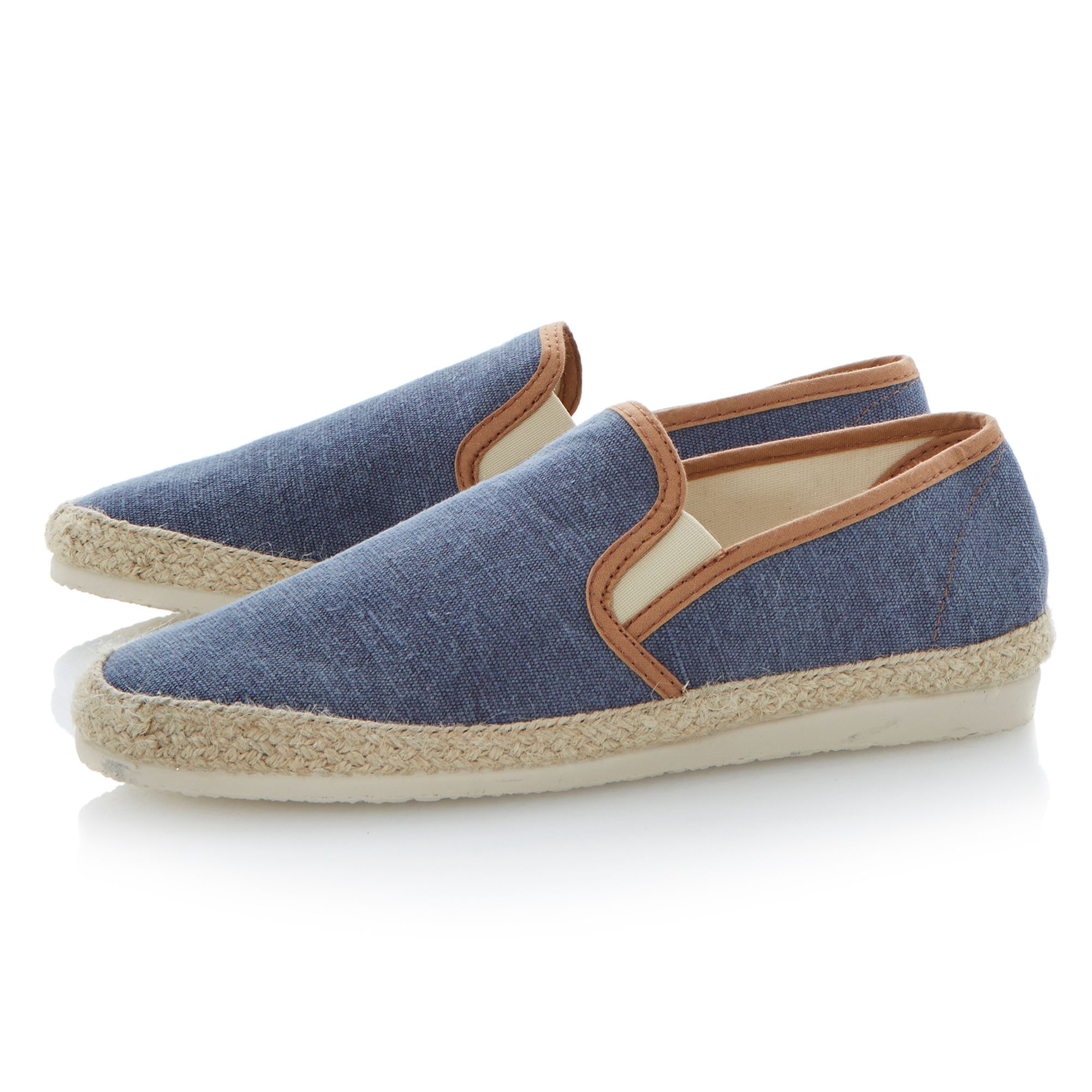 Franklyn elasticated washed canvas espadrilles