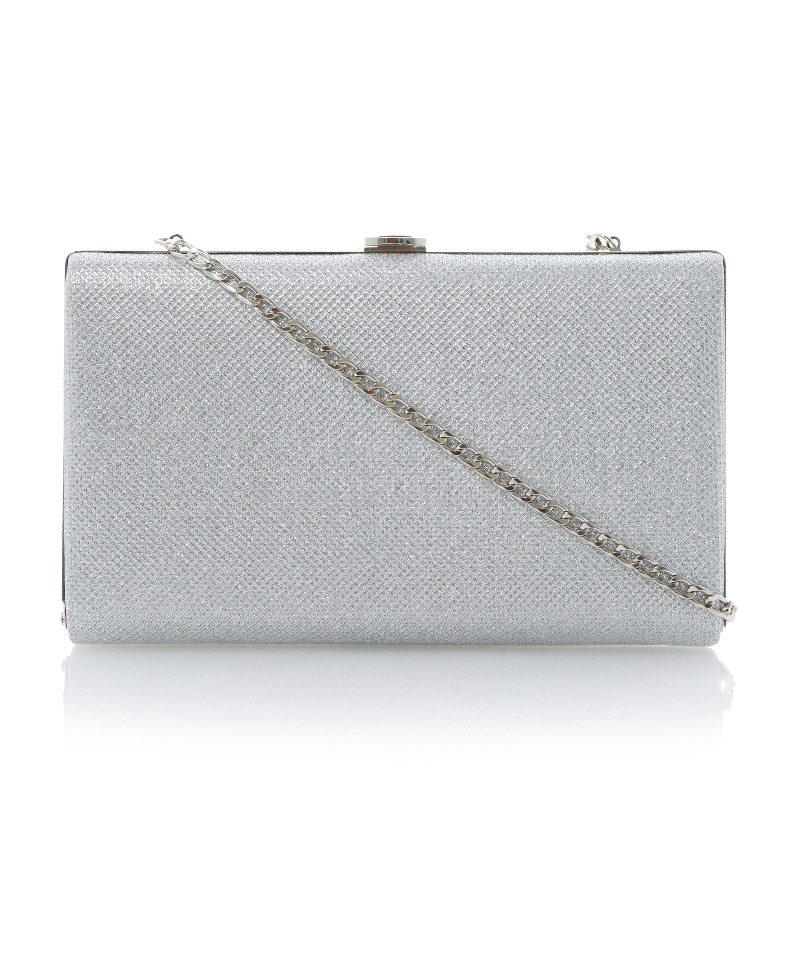 Burex framed lurex clutch bag