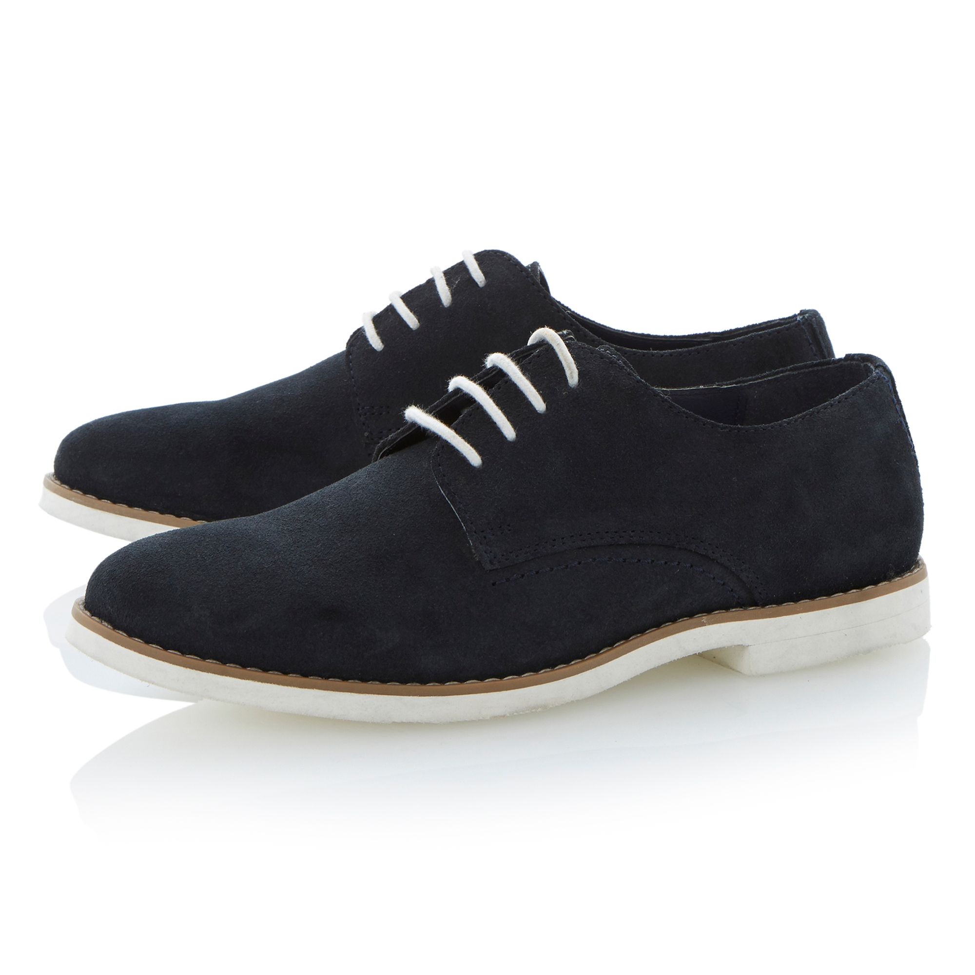 Boyd lace up white sole gibson shoes