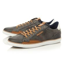 Tailored 1 lace up side stitch sneakers