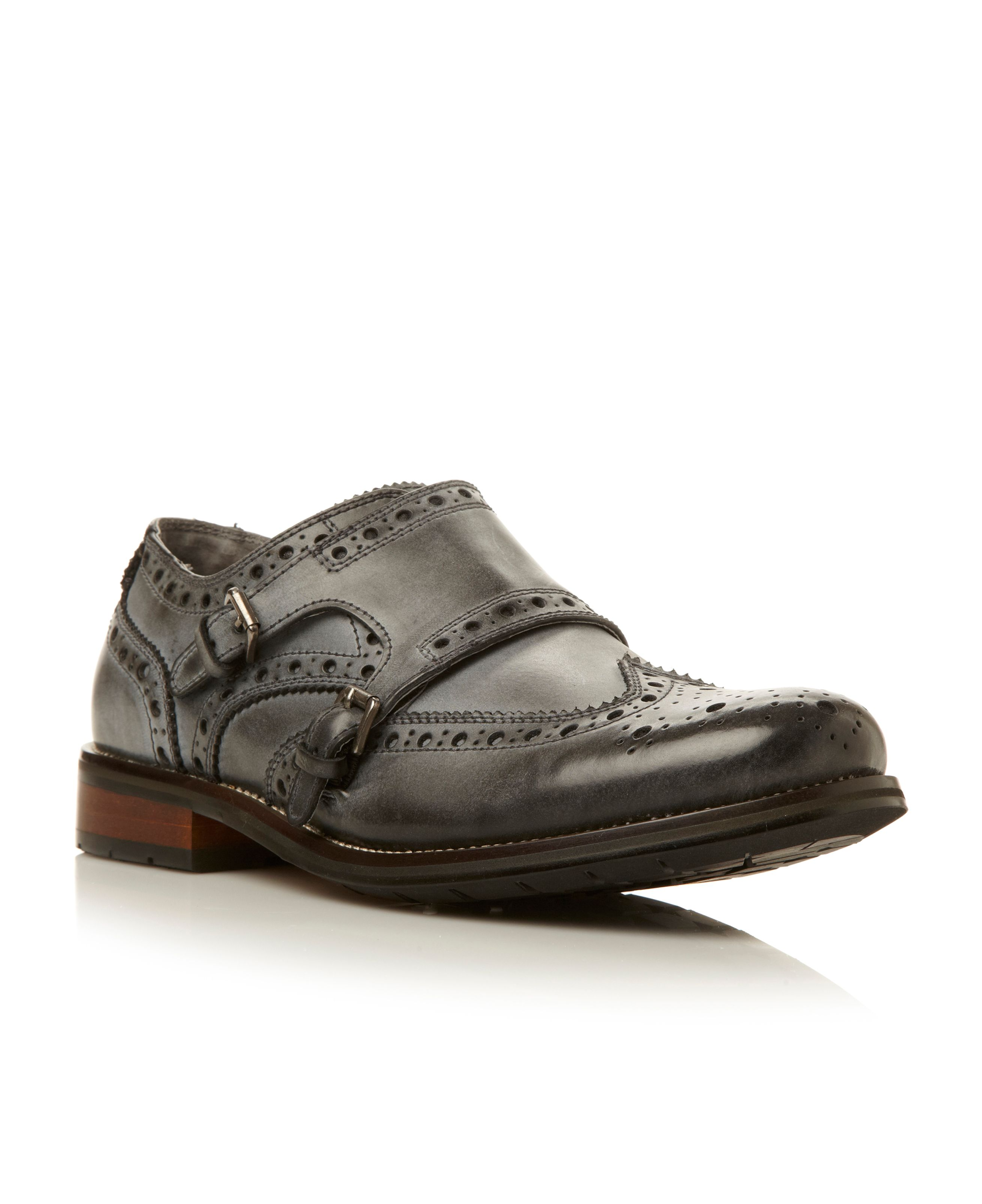 Exec double monk brogue shoe