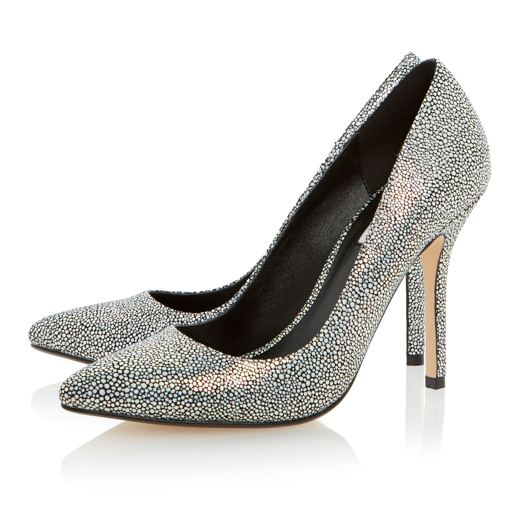 Burst texture print court shoes