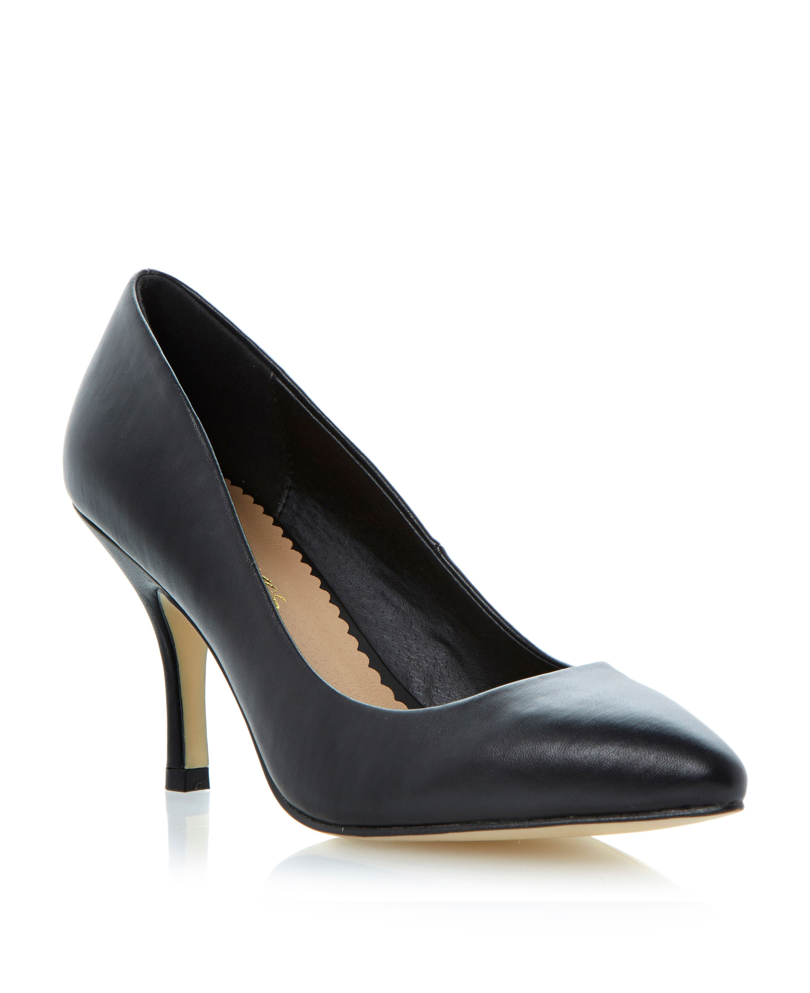Blayke pointed toe stiletto zip court shoes