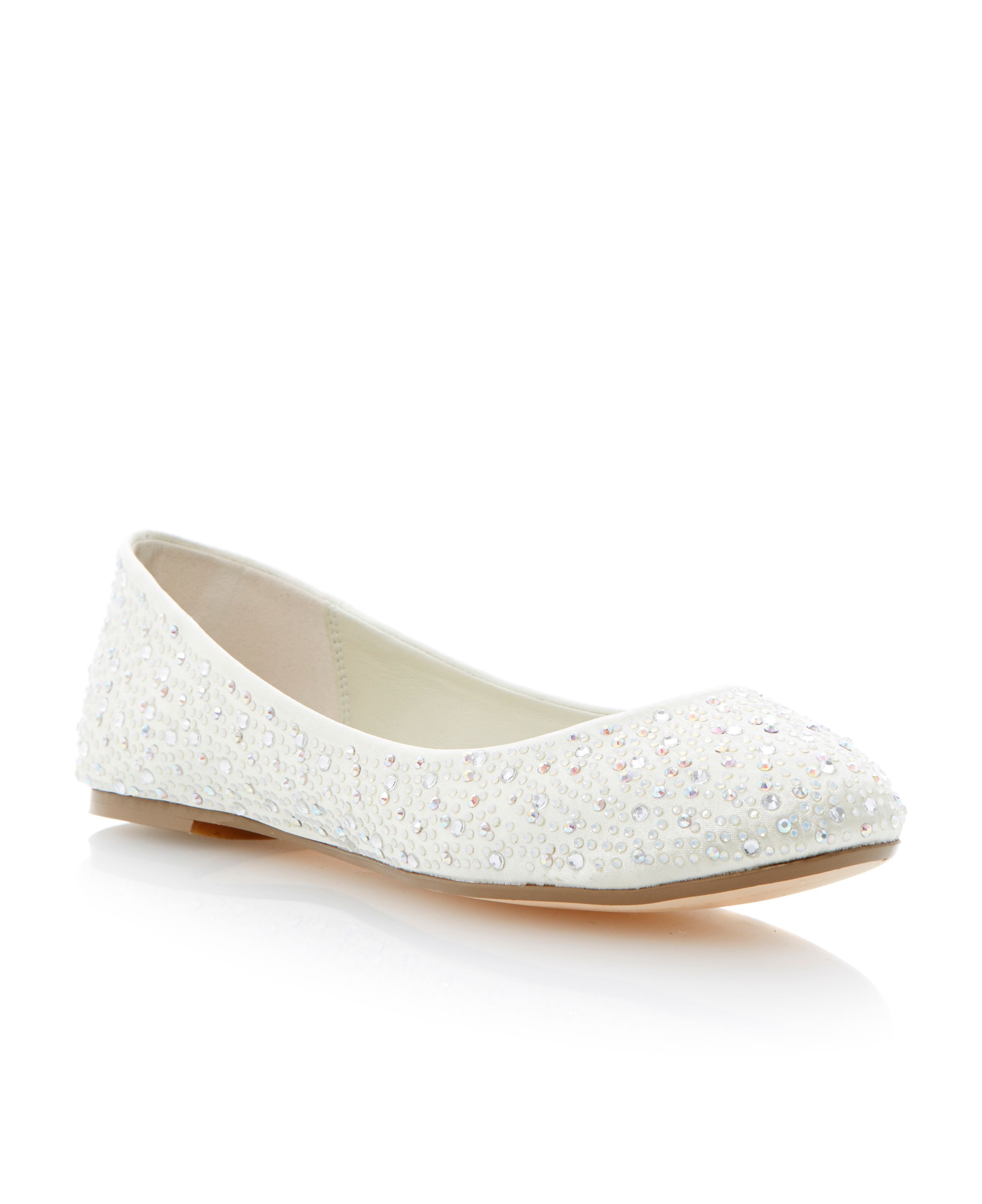 Marthas diamante embellished ballerina shoes