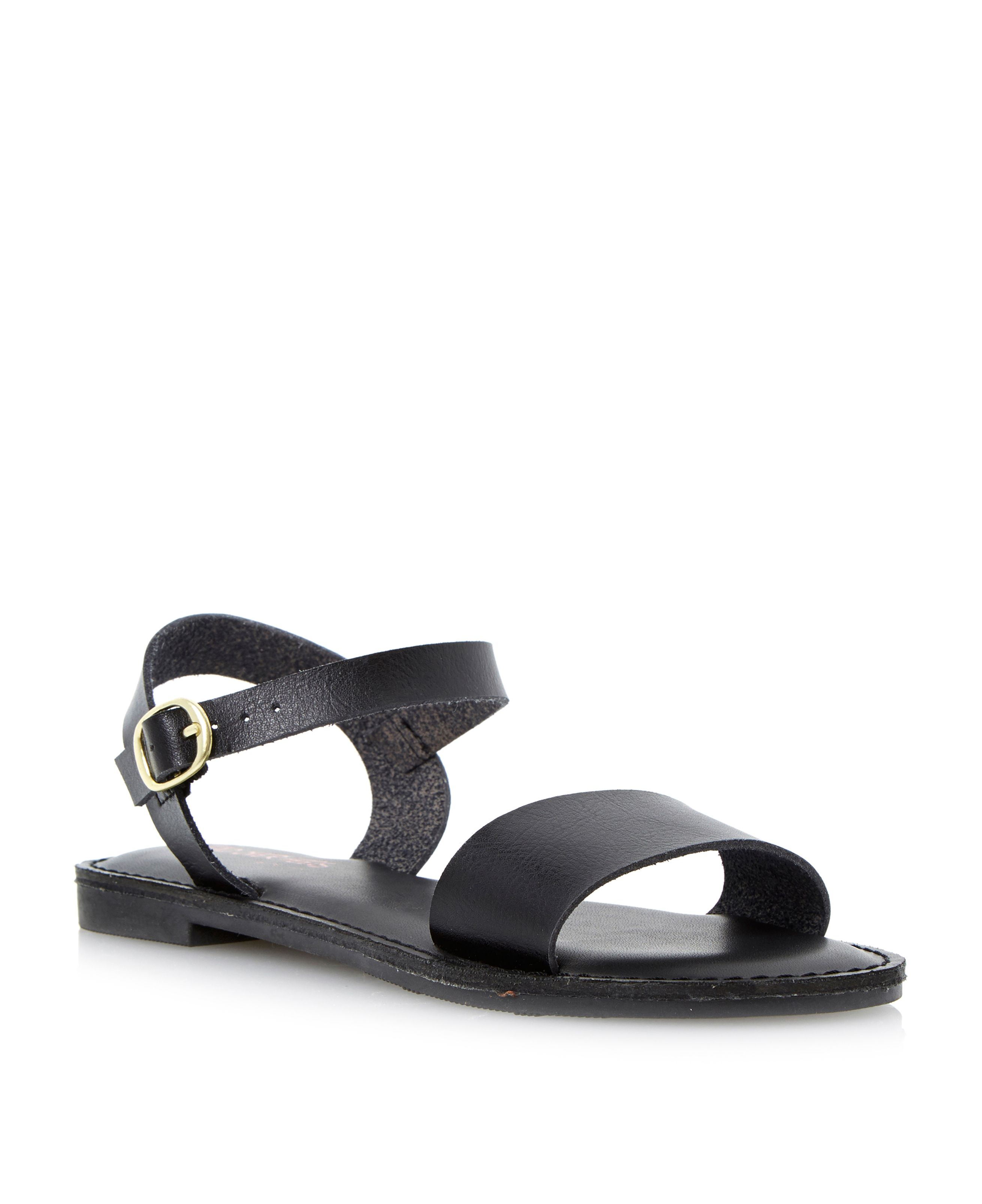 Joyful flat buckle sandals