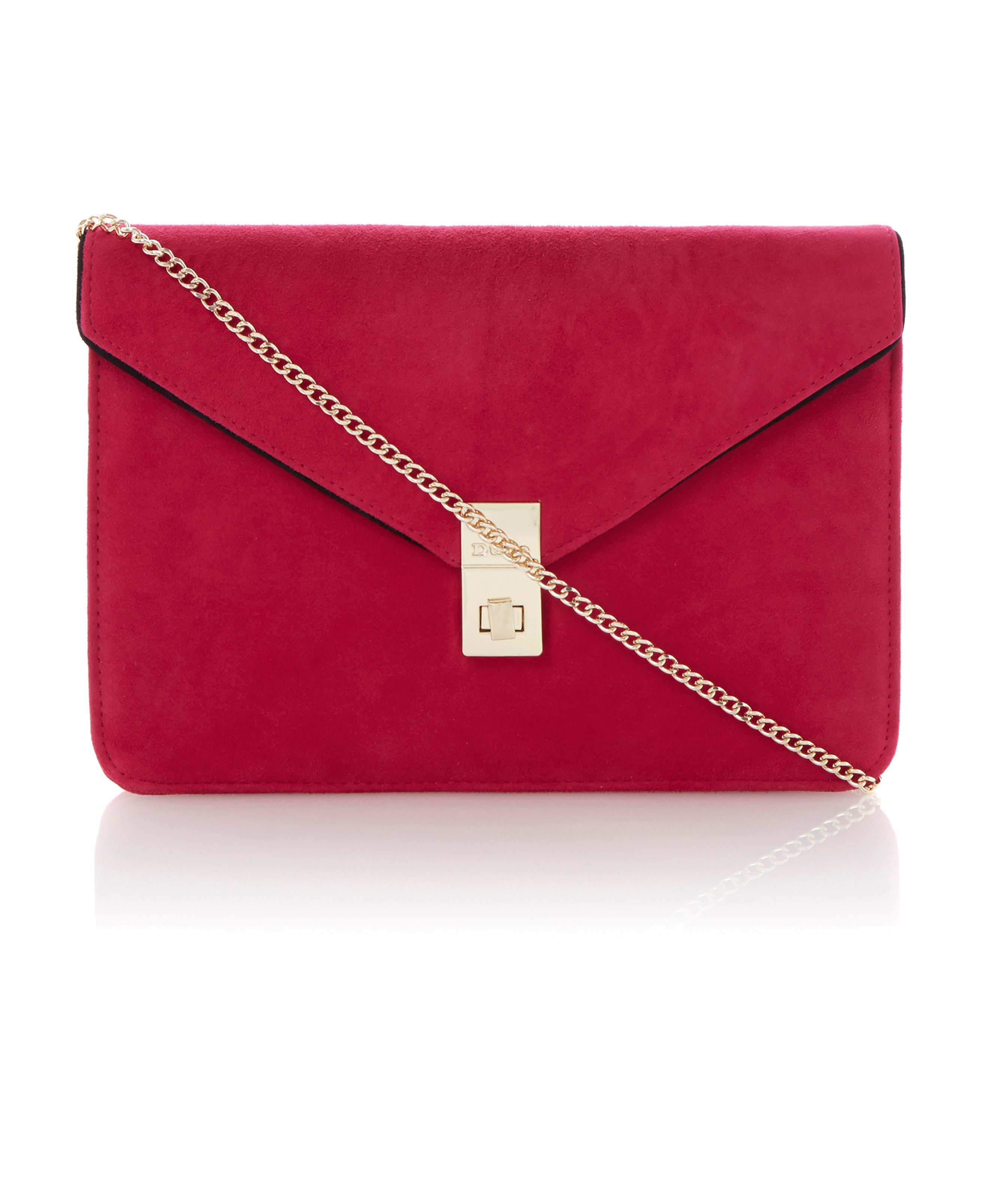 Blockies oversized suede envelope clutch bag