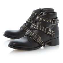 Punkie stud low strap ankle boots