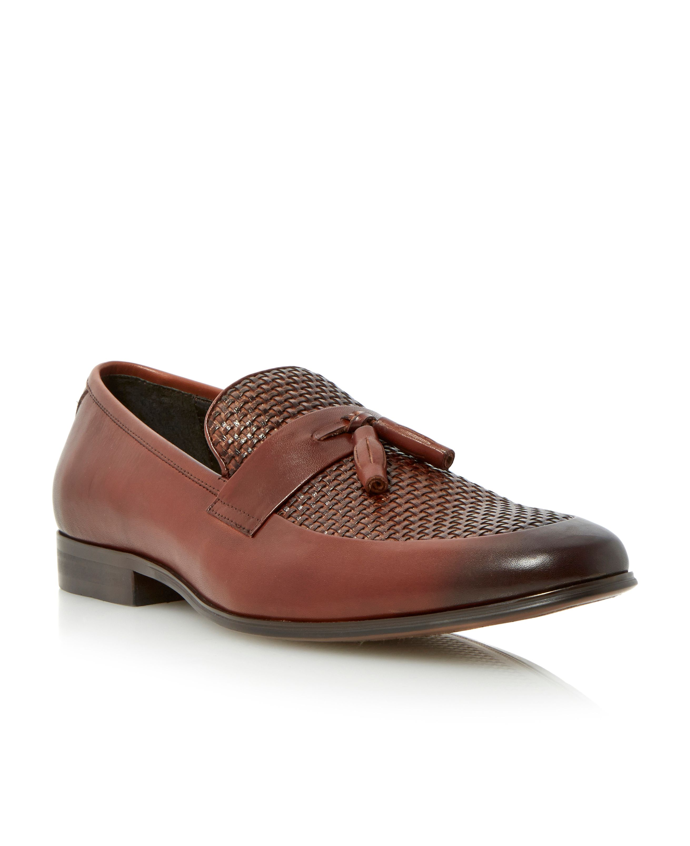 Applause weave tassel loafers