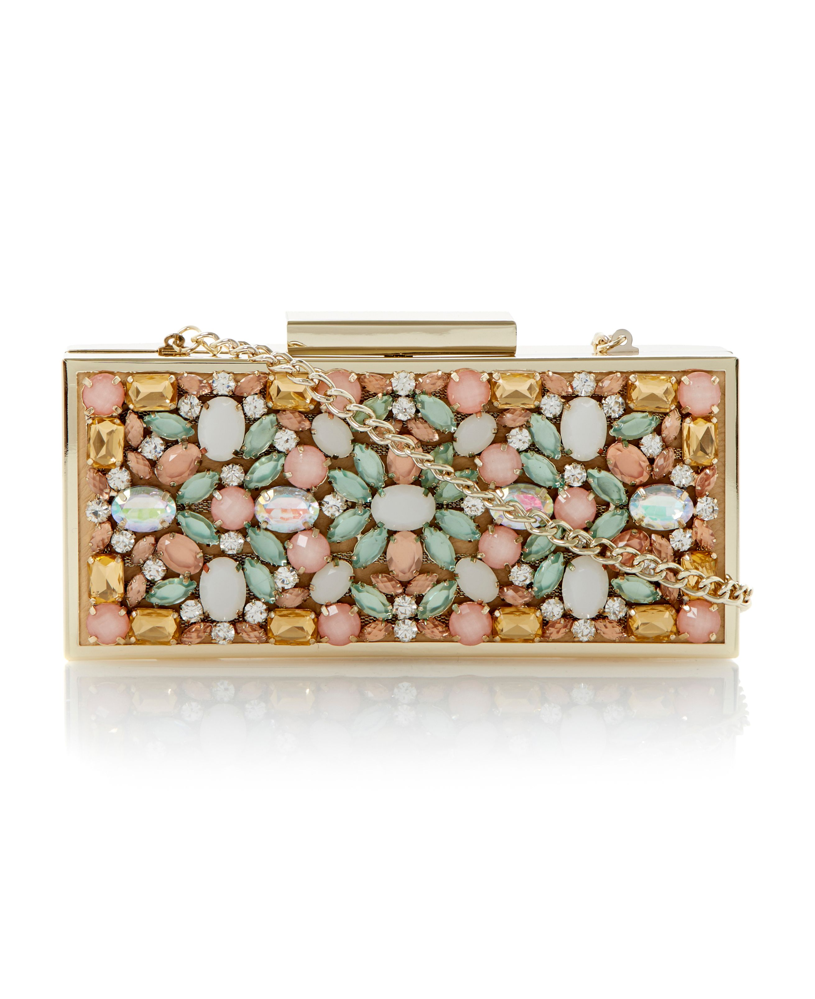 Ecasey jewelled box clutch bag