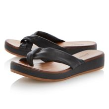 Gotta leather wedge sandals