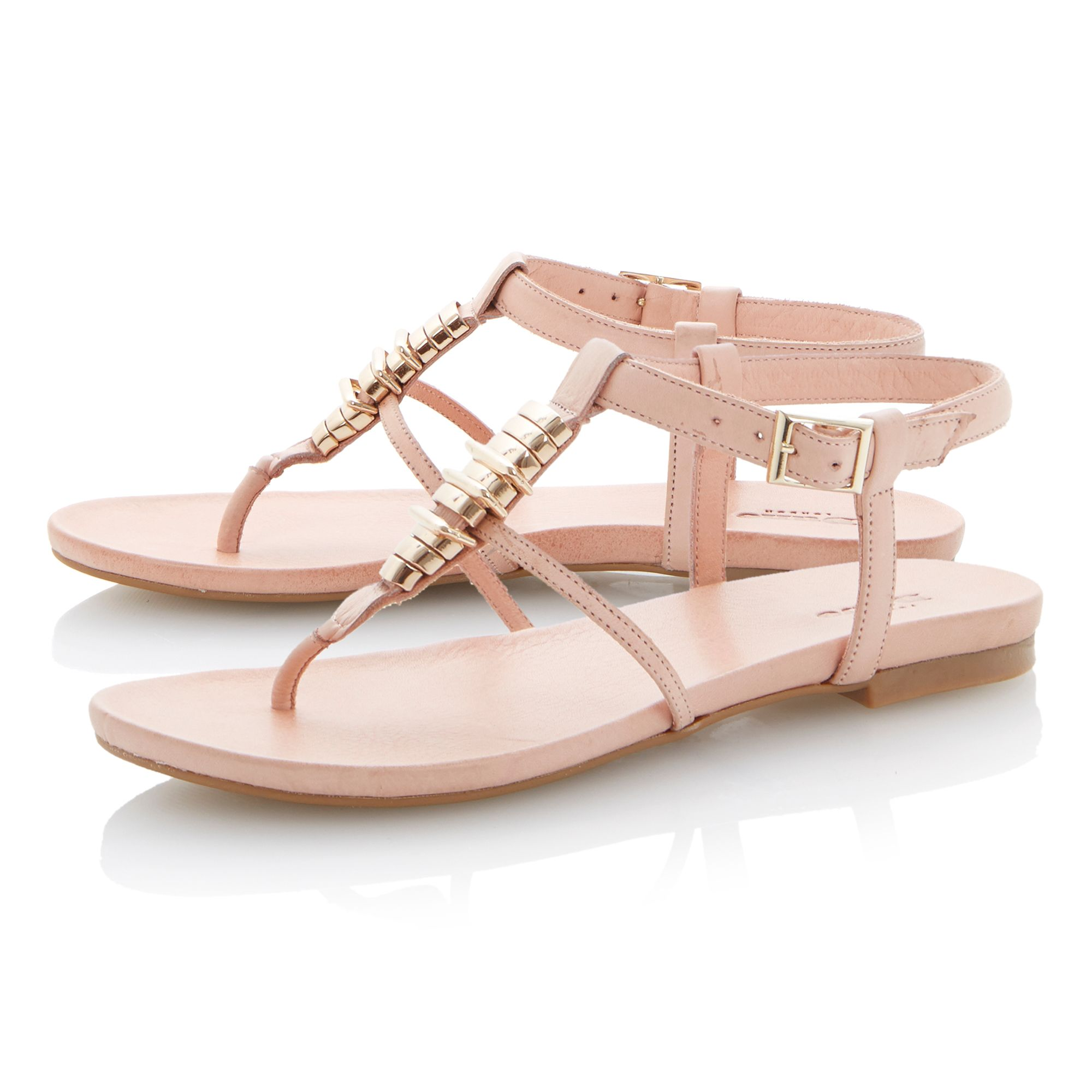 Jax leather flat buckle sandals