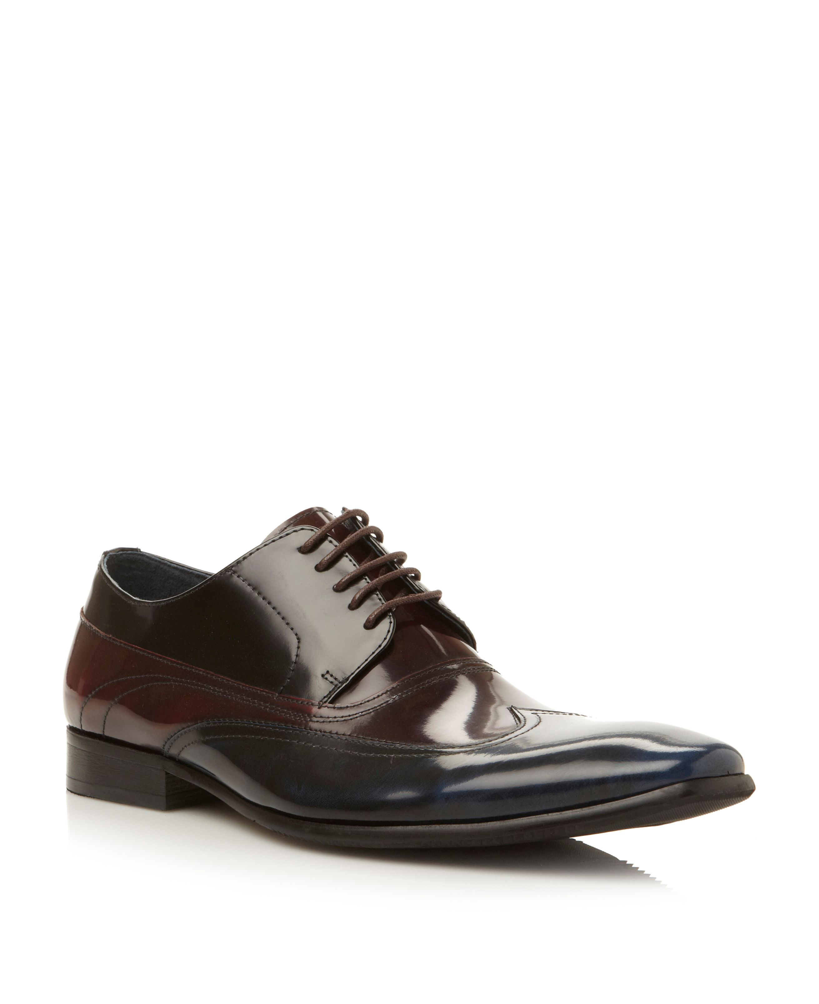 Skillman lace up tri colour wingtip shoes