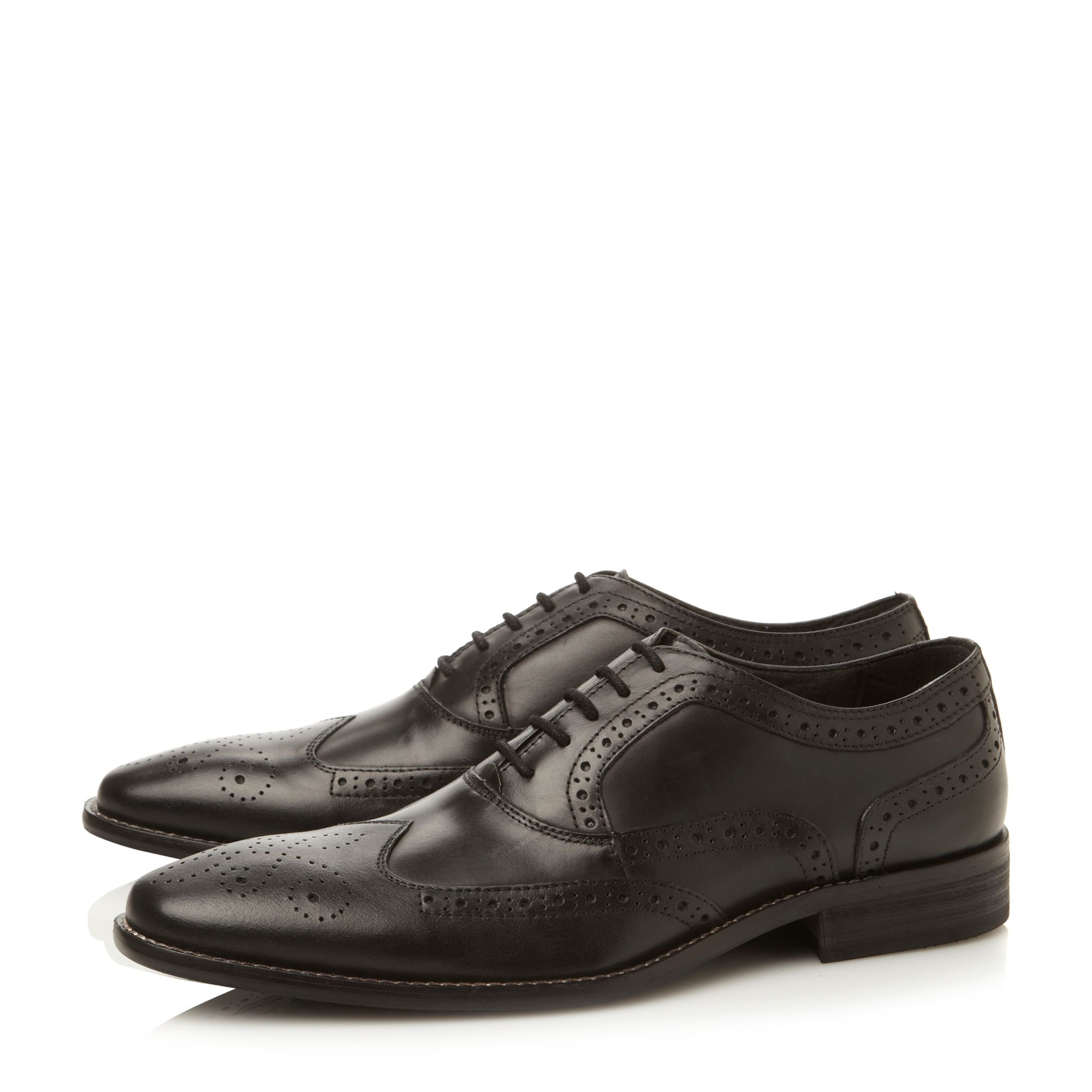 Persitt wingtip oxford lace up shoes