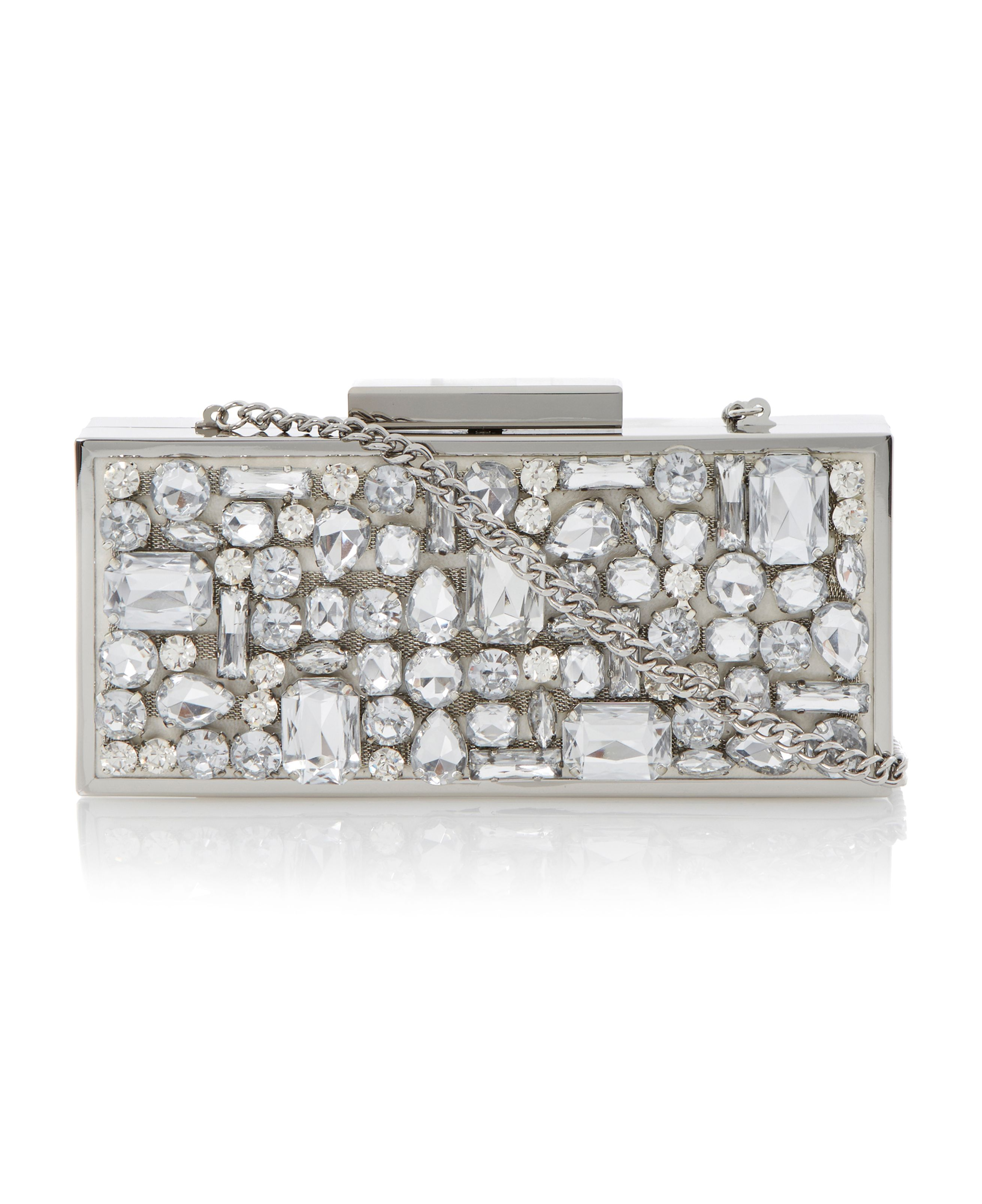 Becasey jewelled box clutch bag