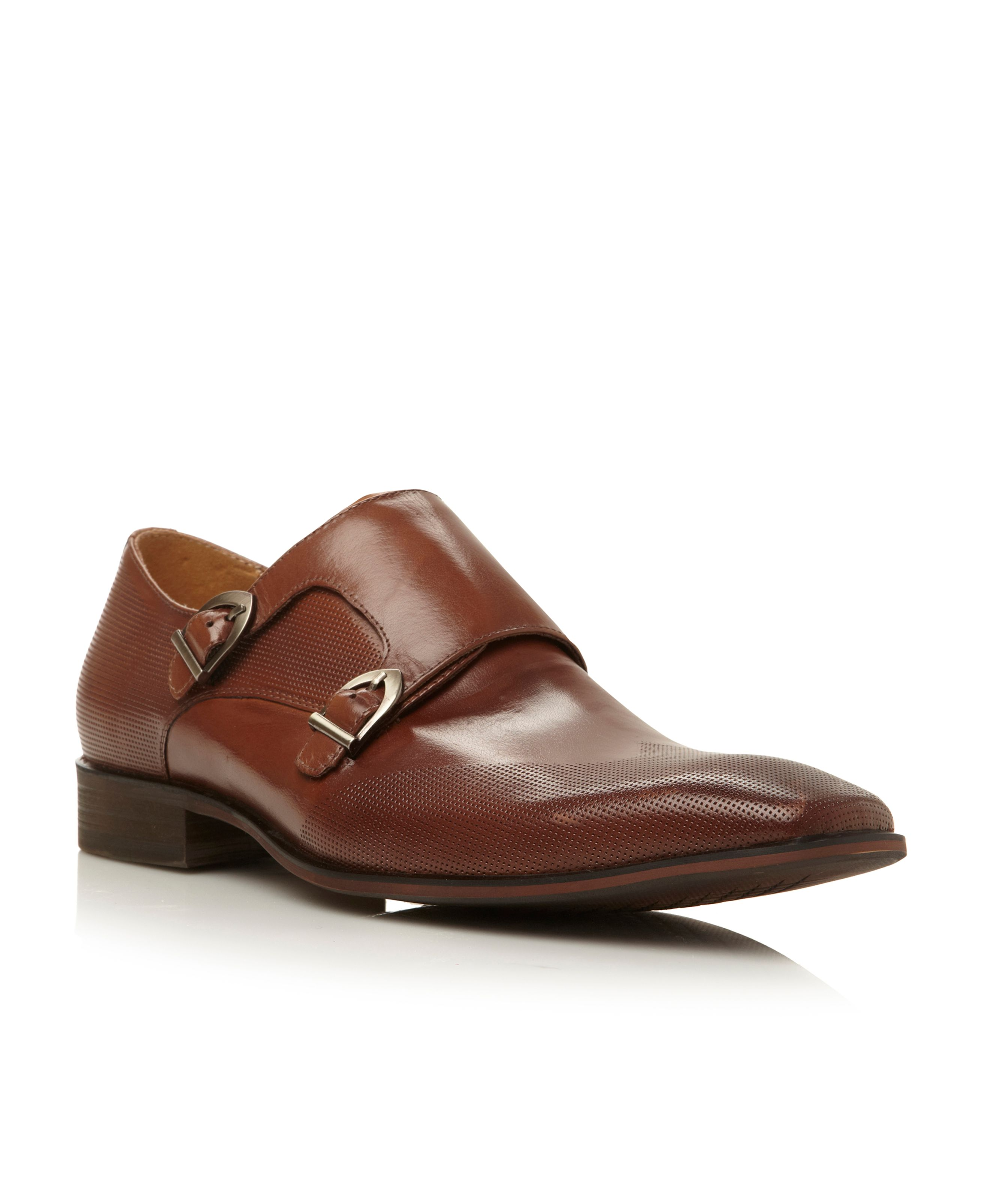 Jerney buckle double monk formal shoes