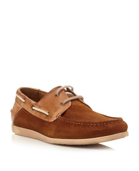 Steve Madden Qnsboro lace up combo boat shoes