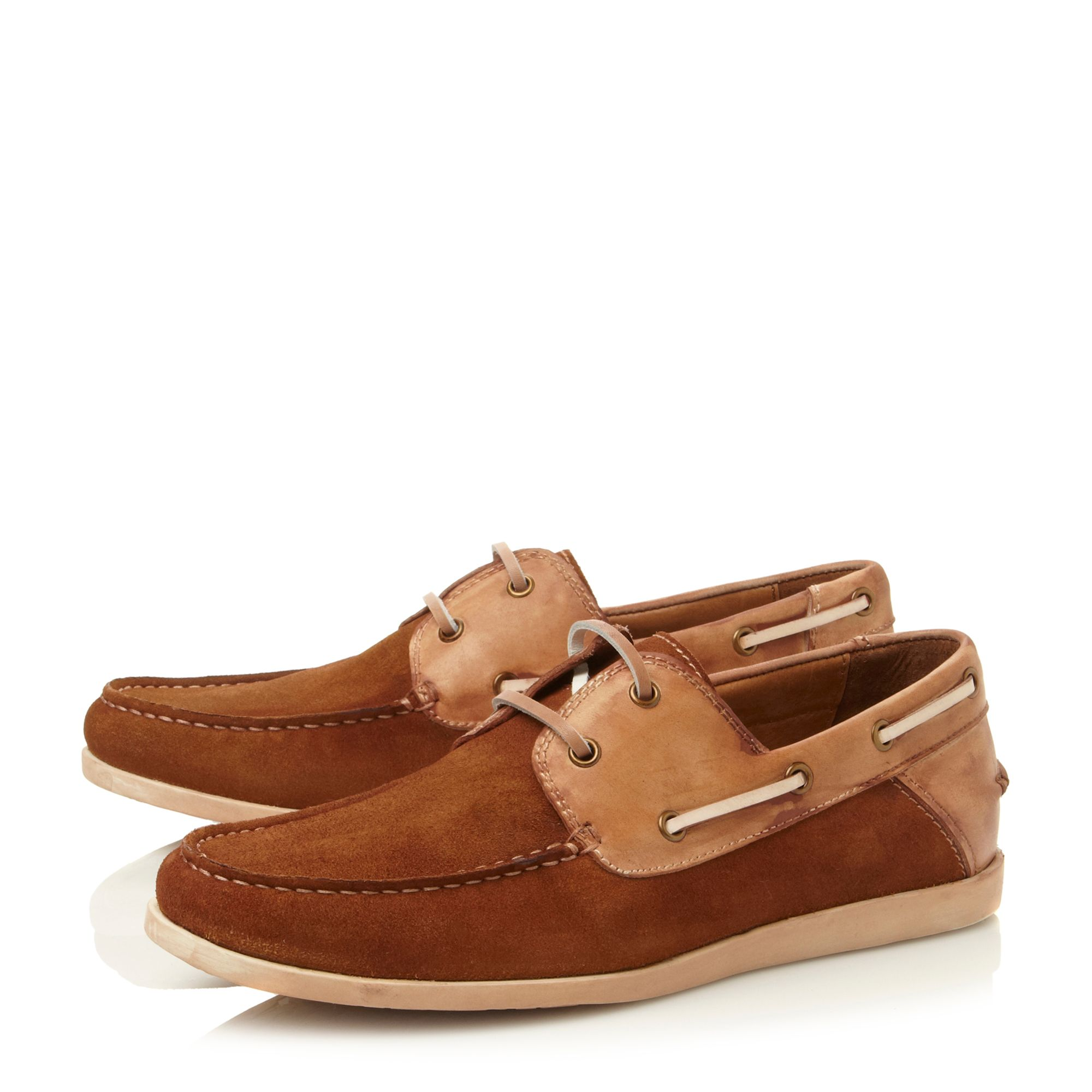 Qnsboro lace up combo boat shoes