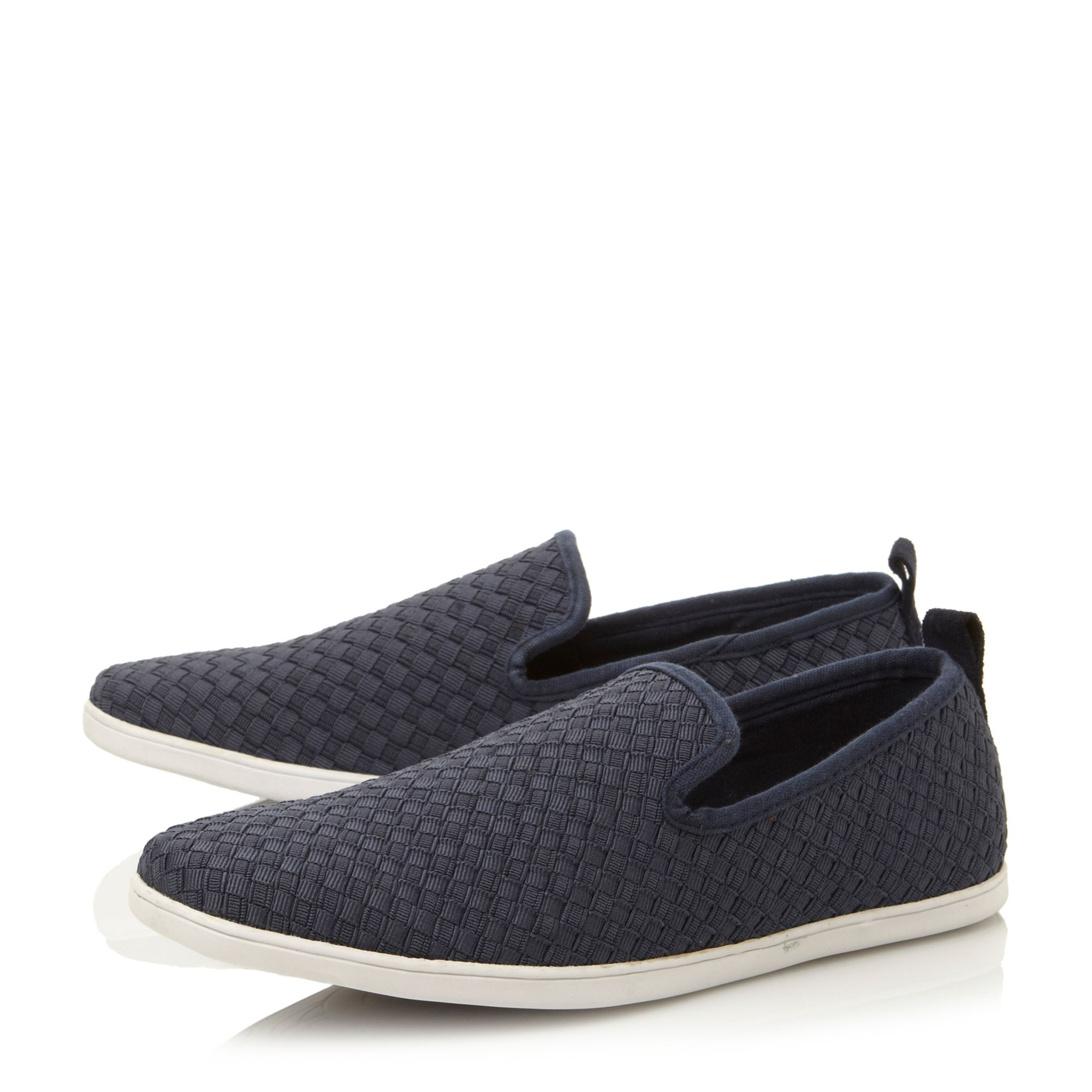Fawkner textured print slip on shoes