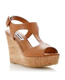 Goaly leather wedge buckle sandals