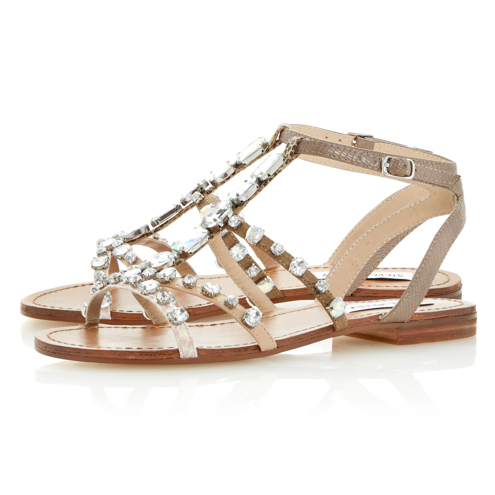 B jewelled diamante flat sandals