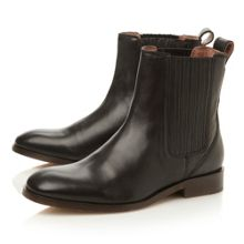 Penni leather square toe block heel boots