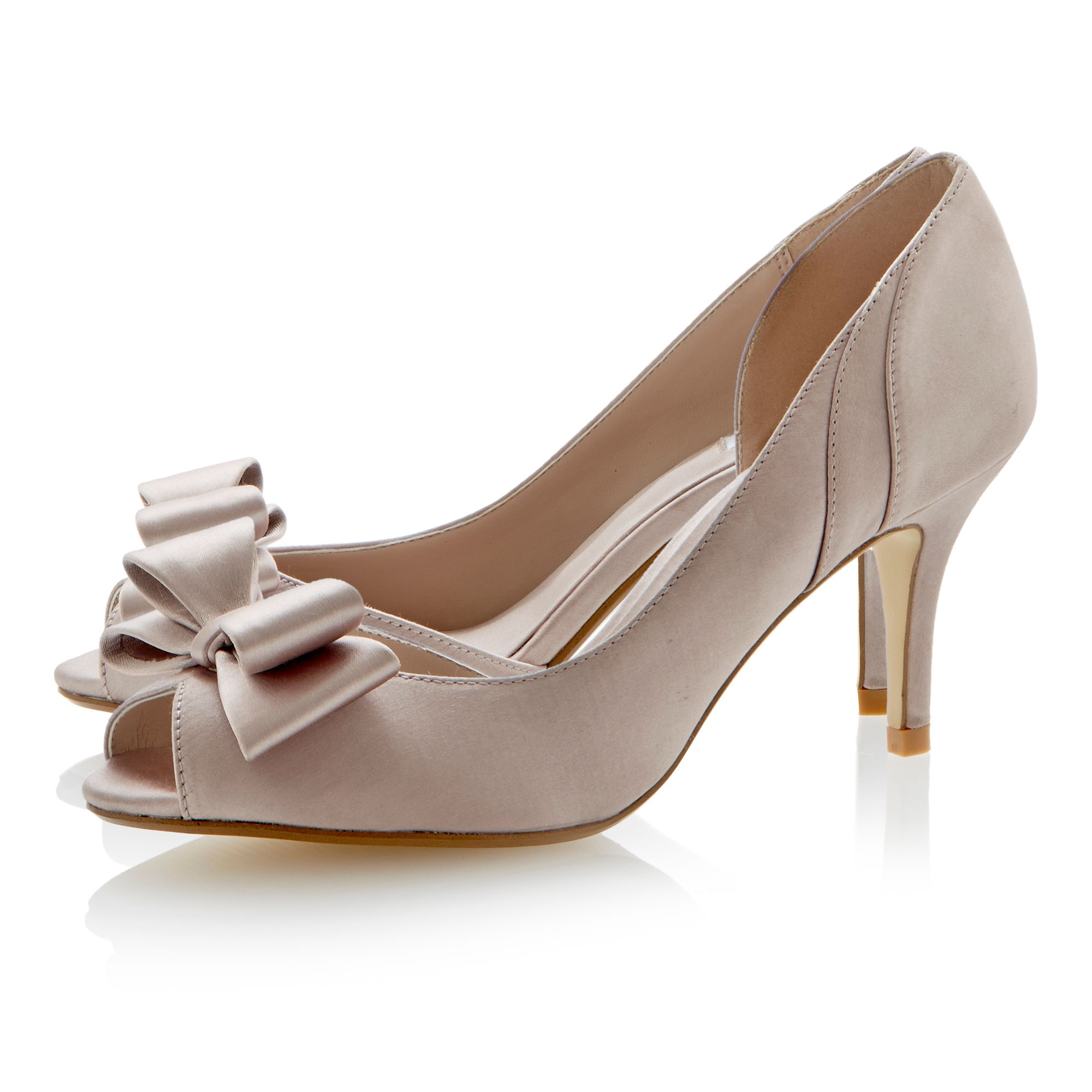 Daffodill satin peeptoe stiletto court shoes