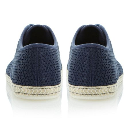 Dune Fennton lace up canvas mesh espadrilles