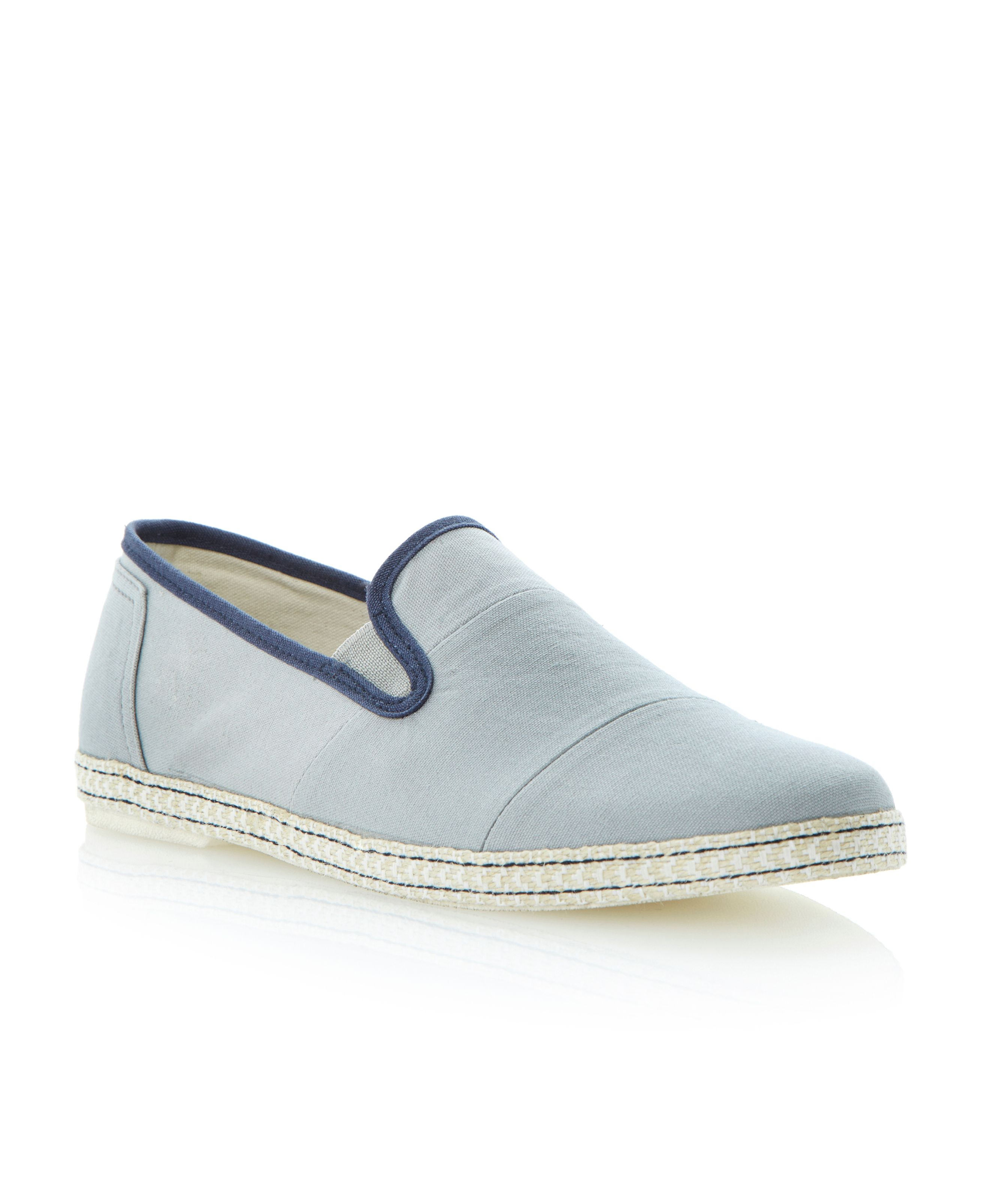 Frampton stitch panel canvas slip ons