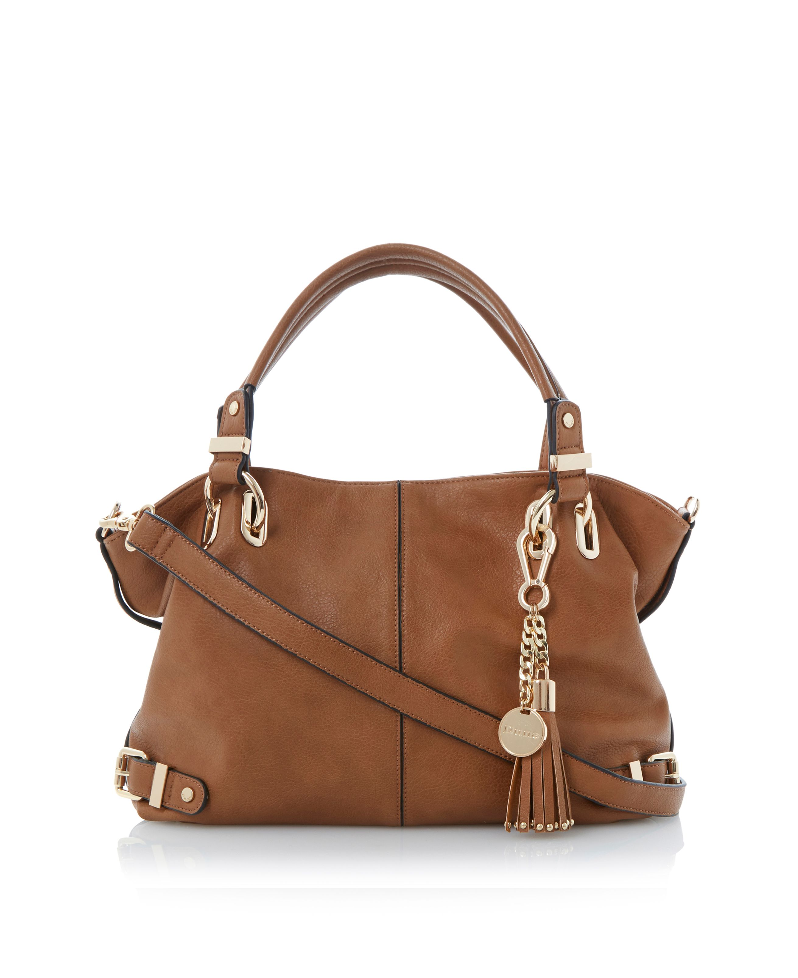 Deather slouchy tassel bag